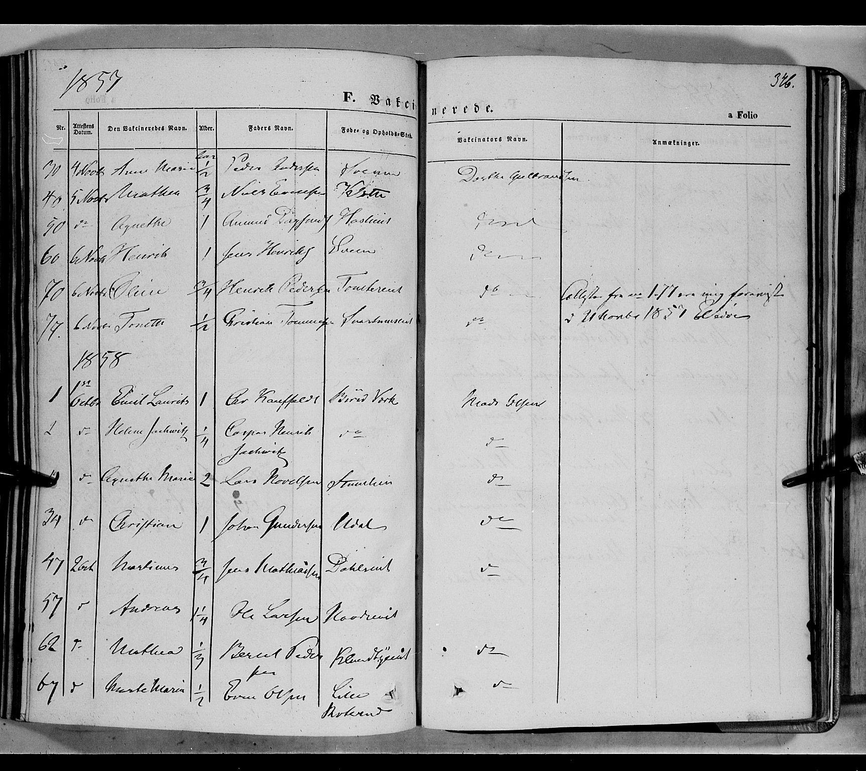 SAH, Biri prestekontor, Ministerialbok nr. 5, 1843-1854, s. 346