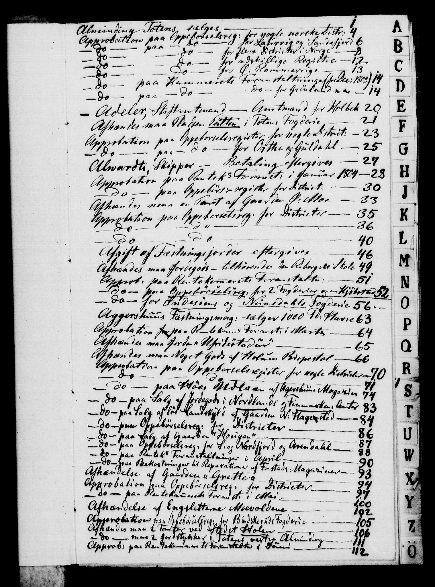 RA, Rentekammeret, Kammerkanselliet, G/Gf/Gfa/L0086: Norsk relasjons- og resolusjonsprotokoll (merket RK 52.86), 1804, s. 3
