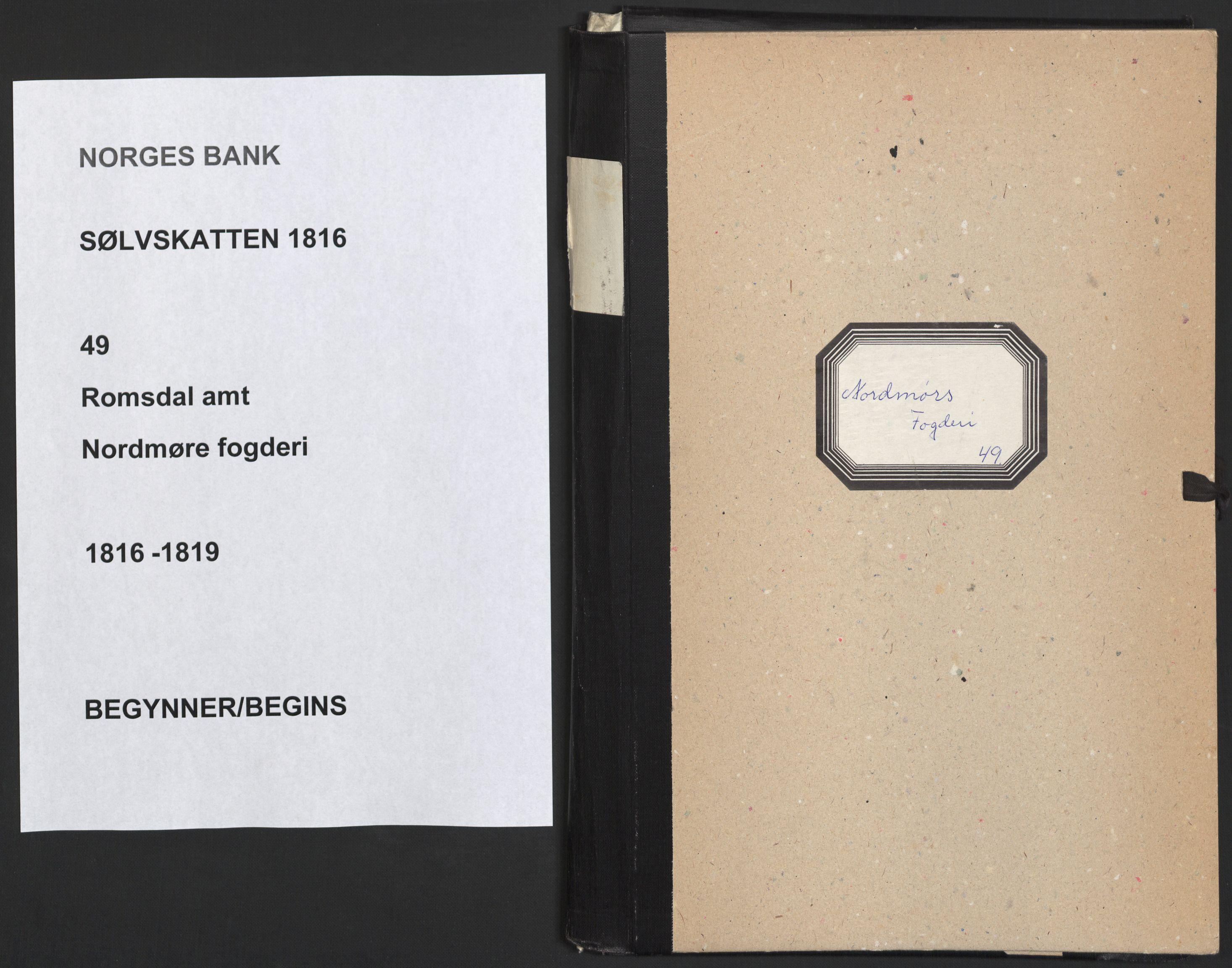 NOBA, Norges Bank/Sølvskatten 1816*, 1816-1819, s. 1