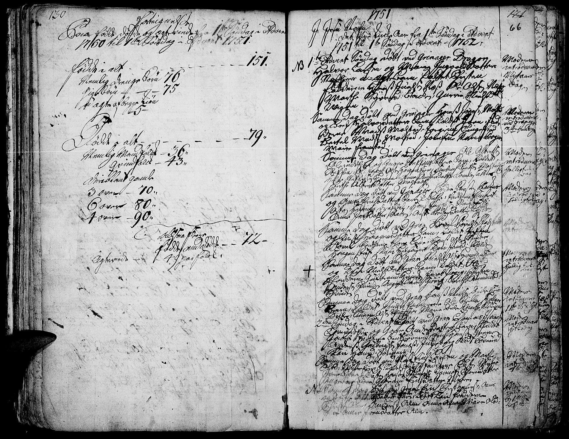 SAH, Gran prestekontor, Ministerialbok nr. 3, 1745-1758, s. 66