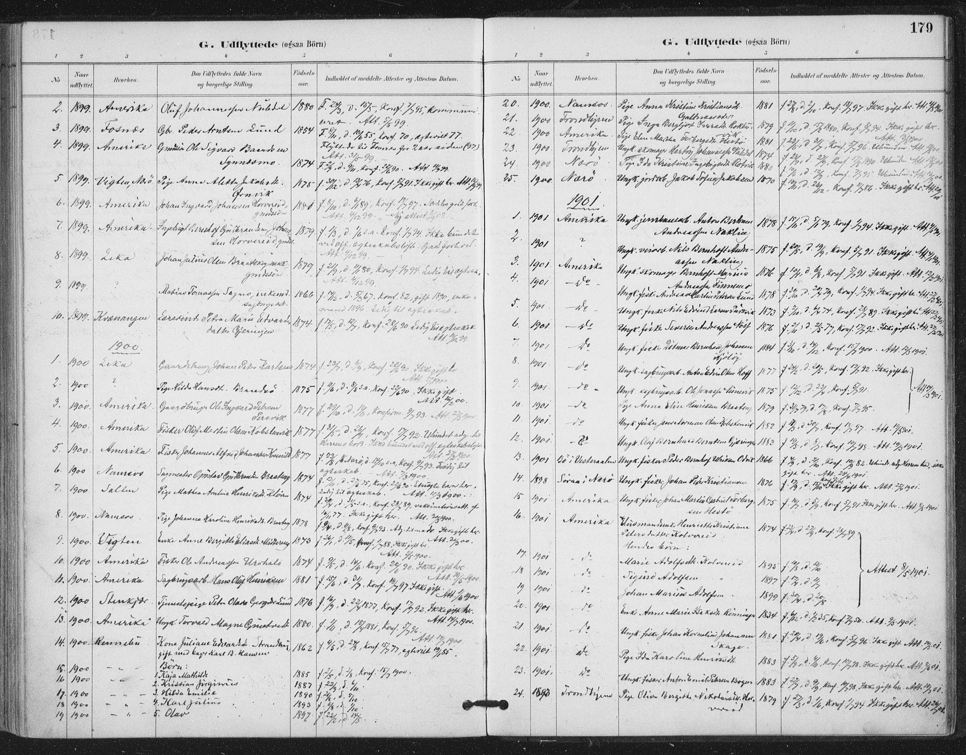 SAT, Ministerialprotokoller, klokkerbøker og fødselsregistre - Nord-Trøndelag, 780/L0644: Ministerialbok nr. 780A08, 1886-1903, s. 179