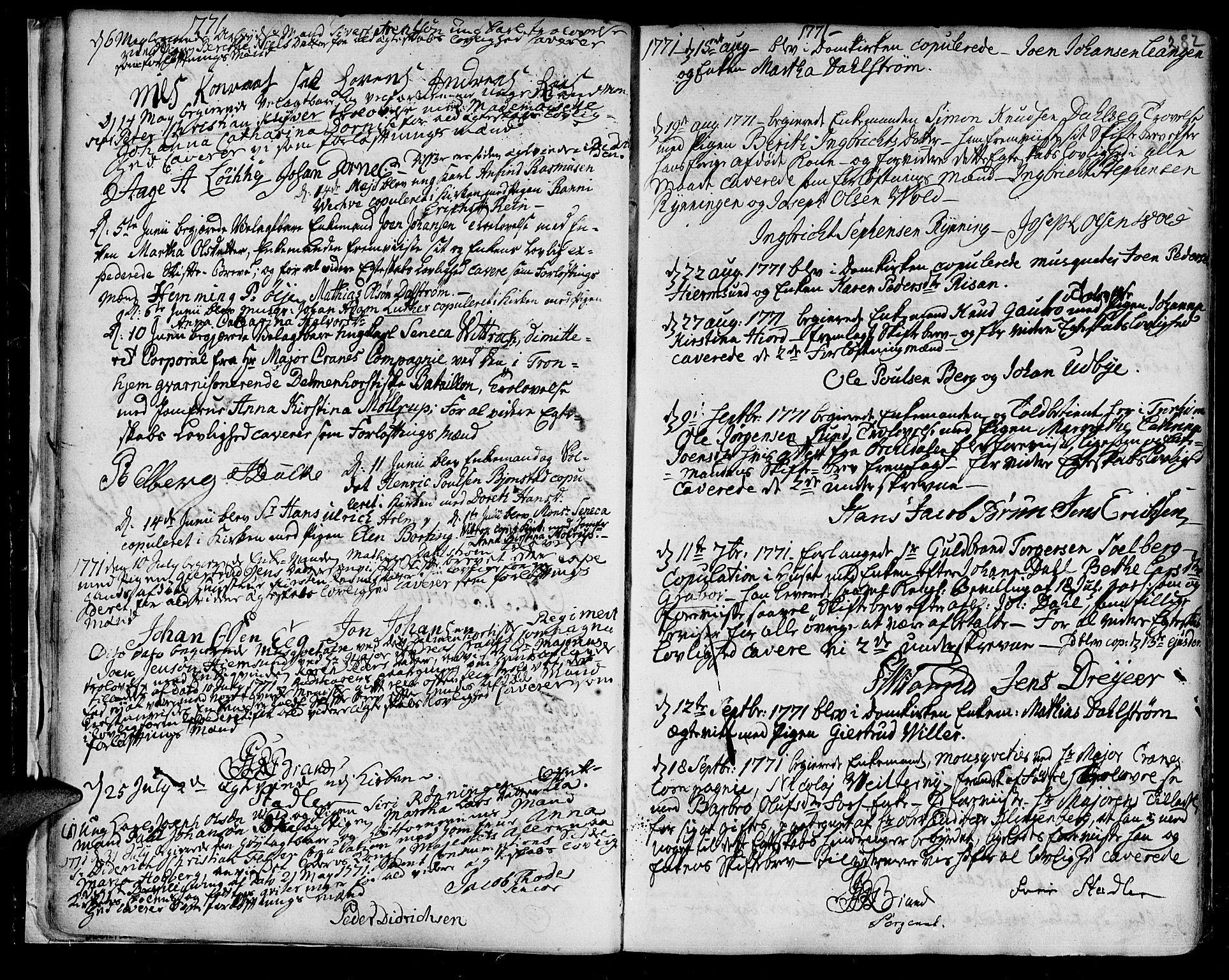 SAT, Ministerialprotokoller, klokkerbøker og fødselsregistre - Sør-Trøndelag, 601/L0038: Ministerialbok nr. 601A06, 1766-1877, s. 282
