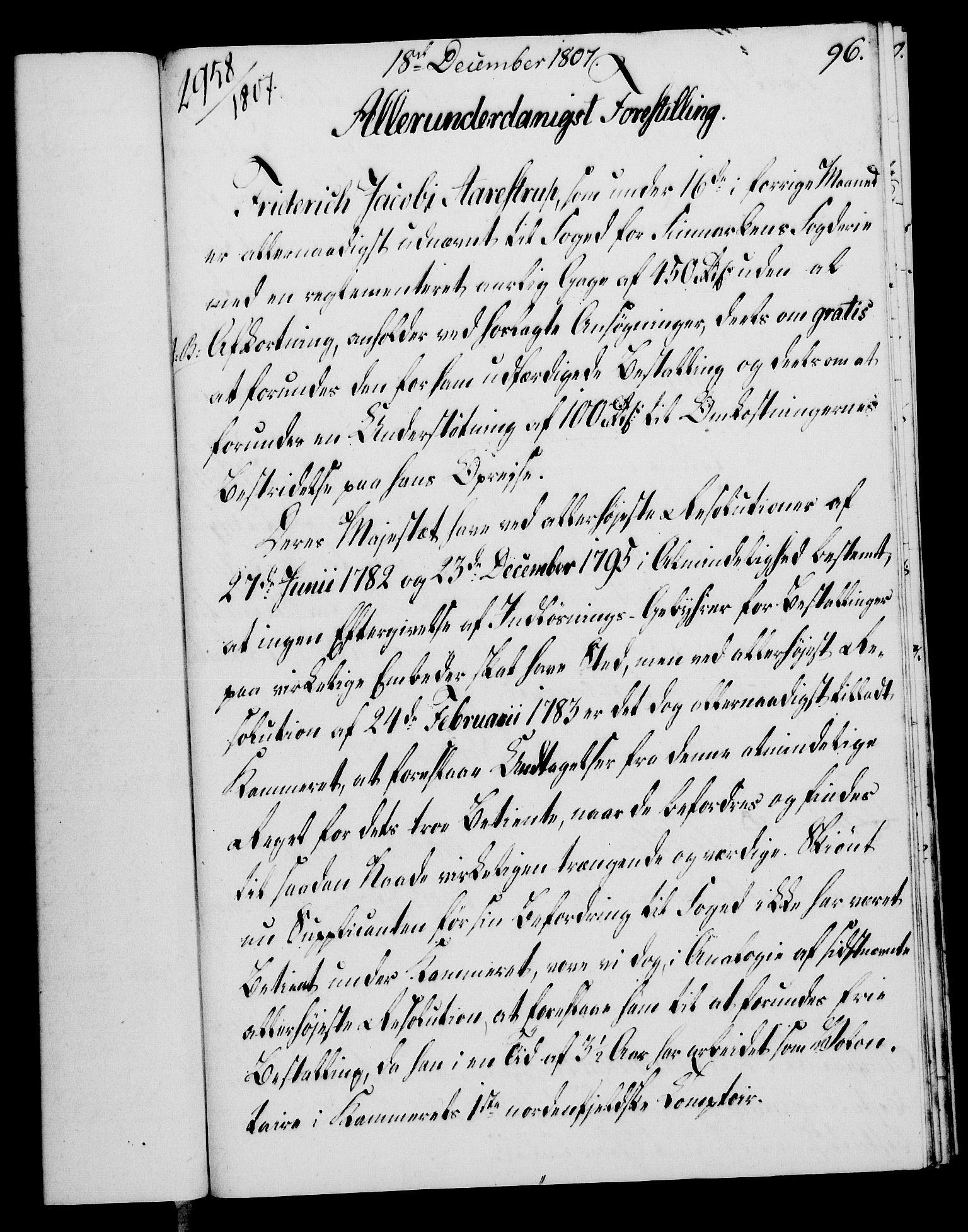 RA, Rentekammeret, Kammerkanselliet, G/Gf/Gfa/L0089: Norsk relasjons- og resolusjonsprotokoll (merket RK 52.89), 1807, s. 576