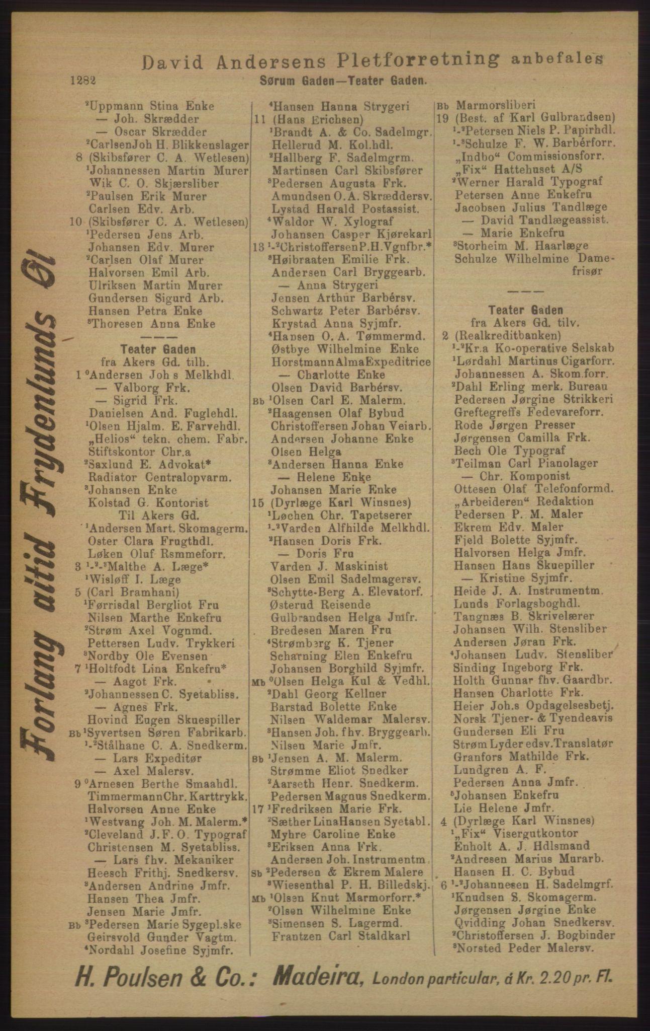PUBL, Kristiania/Oslo adressebok, 1906, s. 1282