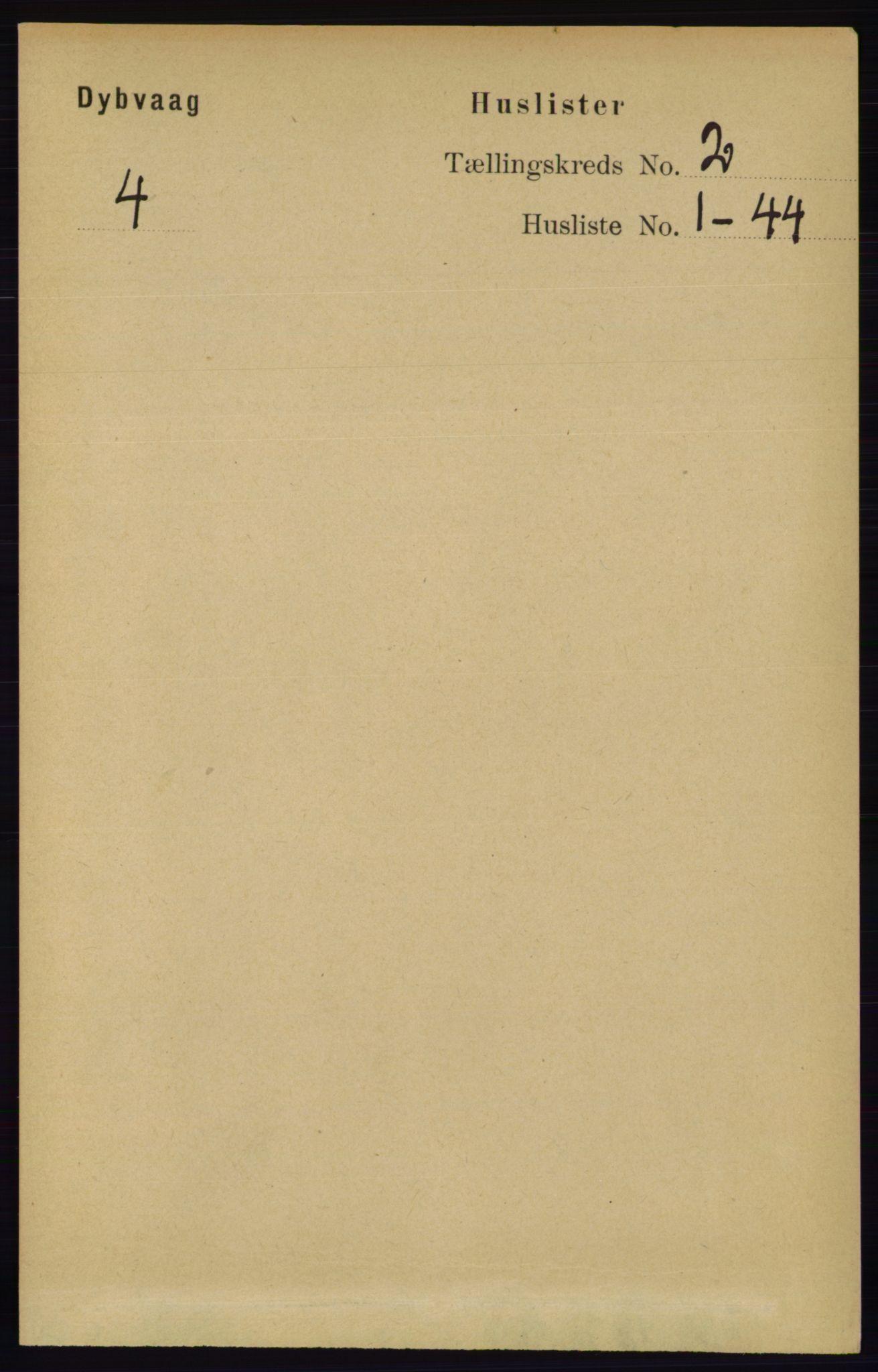 RA, Folketelling 1891 for 0915 Dypvåg herred, 1891, s. 467