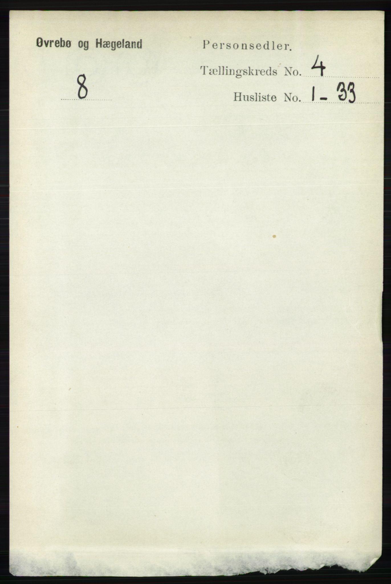 RA, Folketelling 1891 for 1016 Øvrebø og Hægeland herred, 1891, s. 683