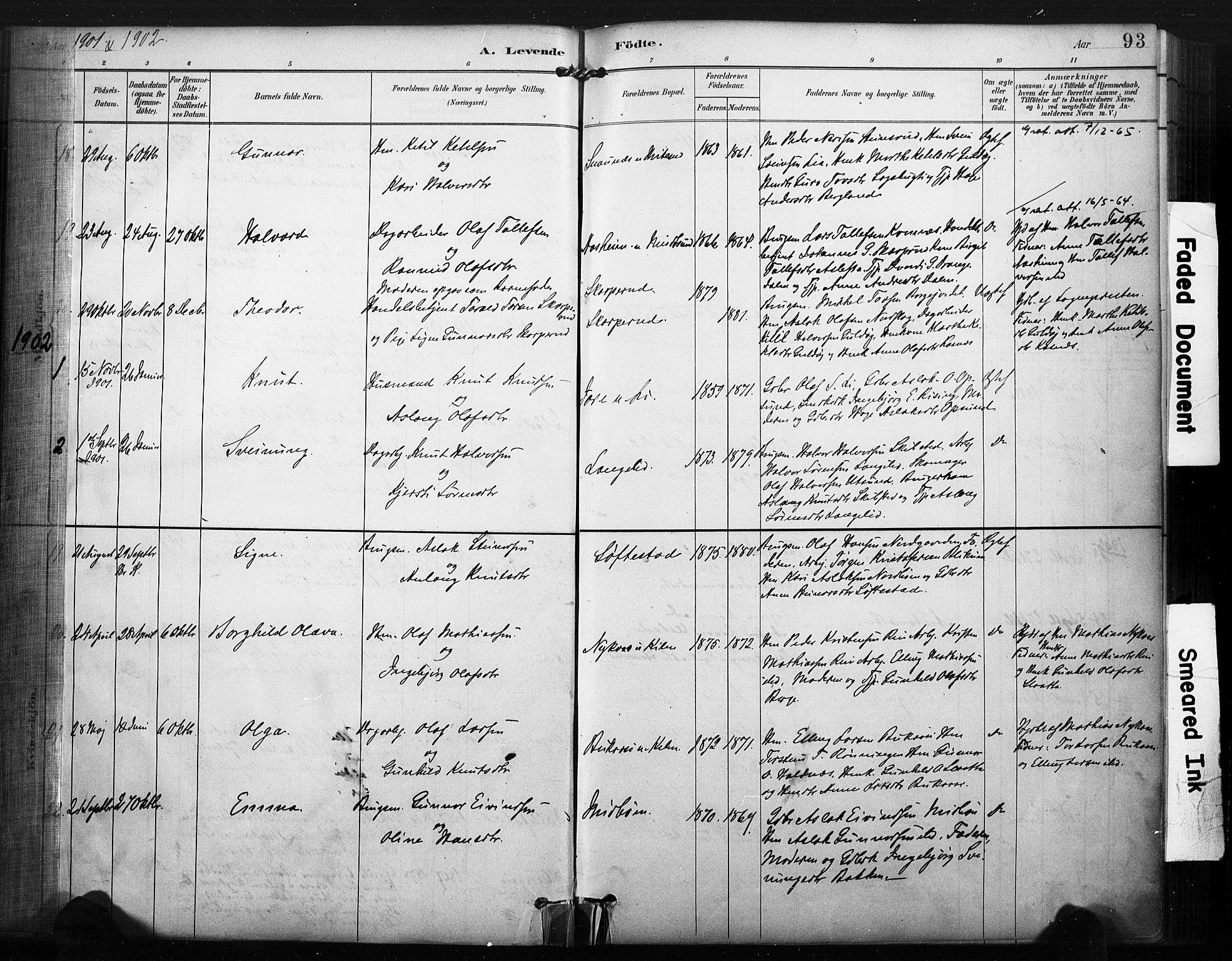 SAKO, Kviteseid kirkebøker, F/Fa/L0008: Ministerialbok nr. I 8, 1882-1903, s. 93