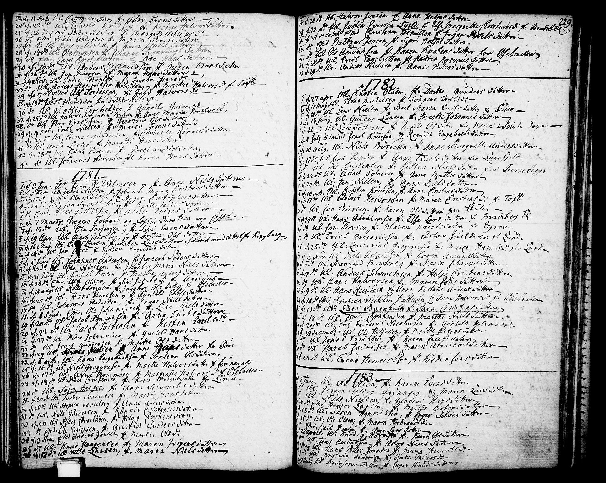 SAKO, Gjerpen kirkebøker, F/Fa/L0002: Ministerialbok nr. 2, 1747-1795, s. 229