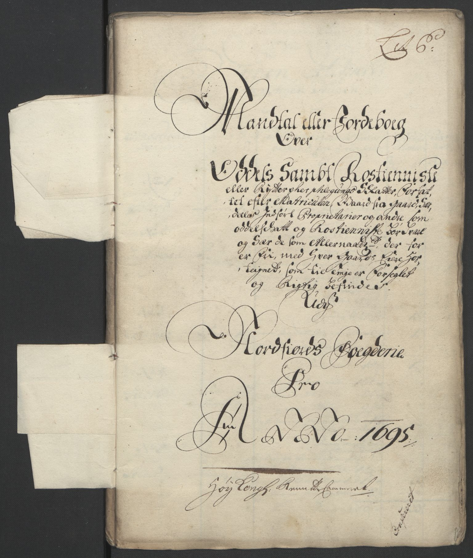 RA, Rentekammeret inntil 1814, Reviderte regnskaper, Fogderegnskap, R53/L3422: Fogderegnskap Sunn- og Nordfjord, 1695-1696, s. 98