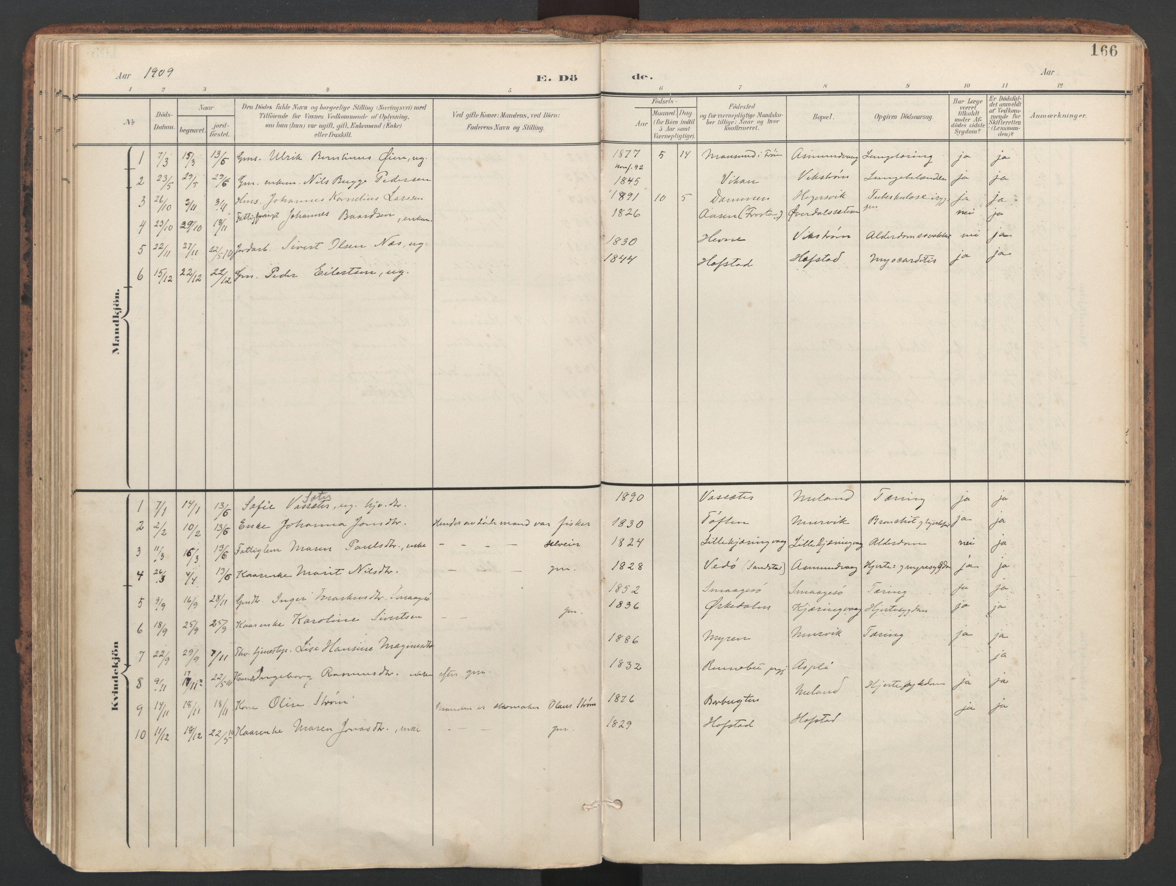 SAT, Ministerialprotokoller, klokkerbøker og fødselsregistre - Sør-Trøndelag, 634/L0537: Ministerialbok nr. 634A13, 1896-1922, s. 166