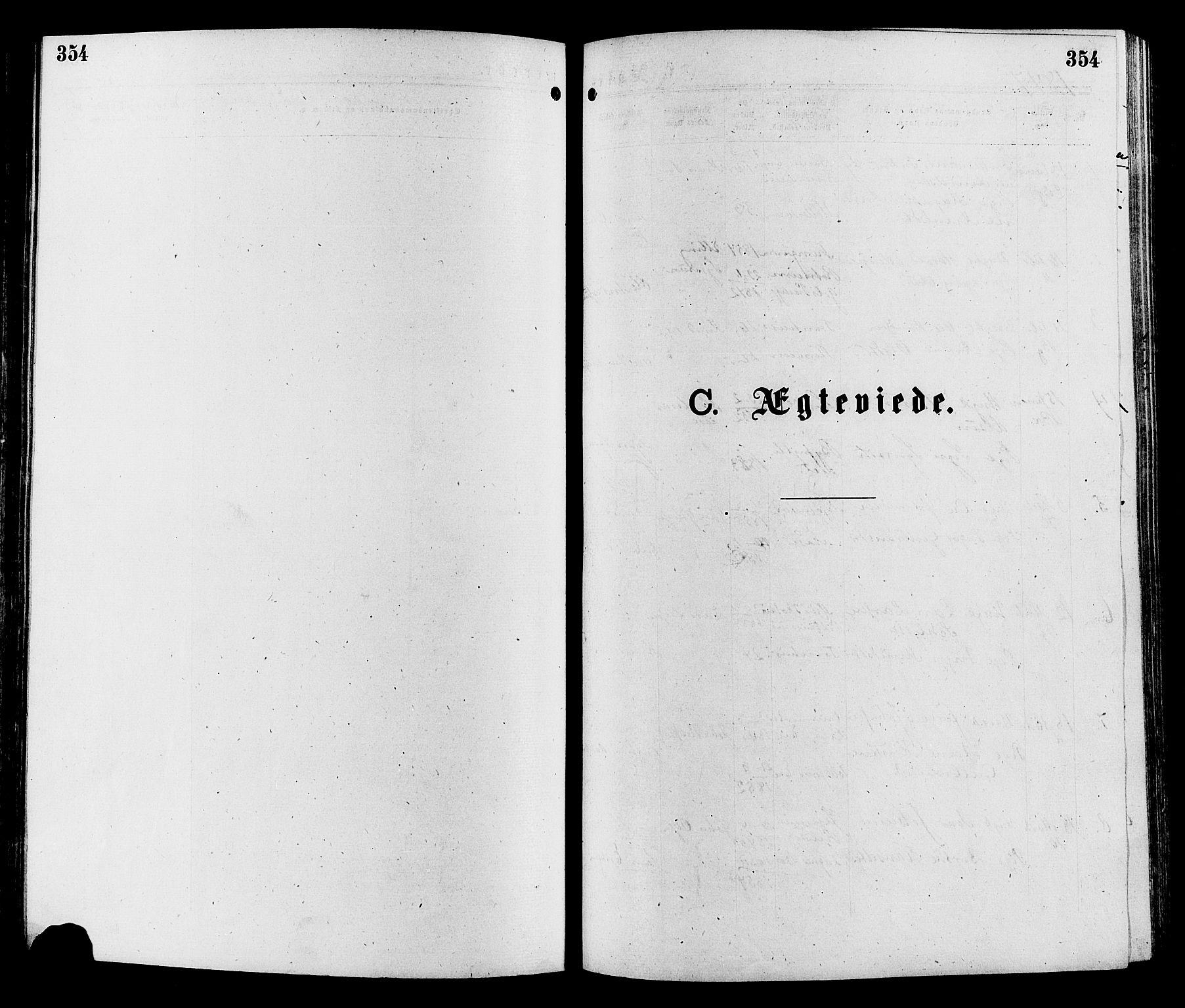 SAH, Sør-Aurdal prestekontor, Ministerialbok nr. 8, 1877-1885, s. 354