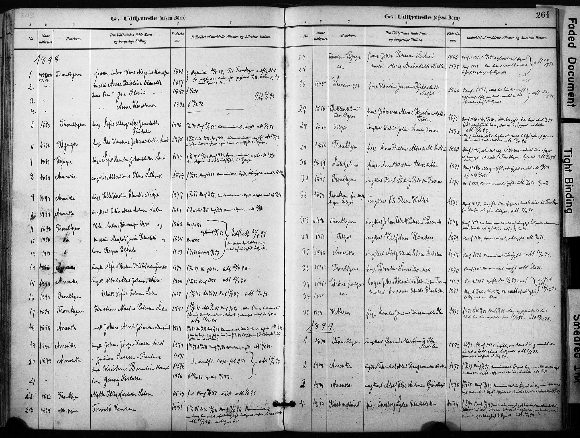 SAT, Ministerialprotokoller, klokkerbøker og fødselsregistre - Sør-Trøndelag, 640/L0579: Ministerialbok nr. 640A04, 1889-1902, s. 264