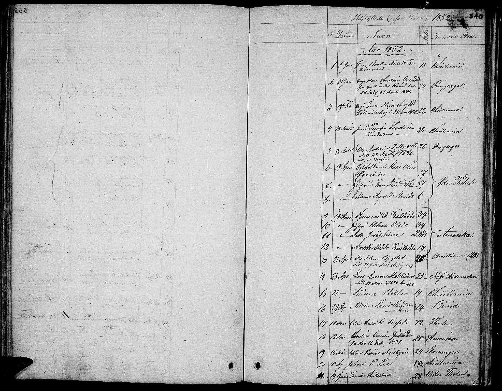 SAH, Vardal prestekontor, H/Ha/Hab/L0004: Klokkerbok nr. 4, 1831-1853, s. 340
