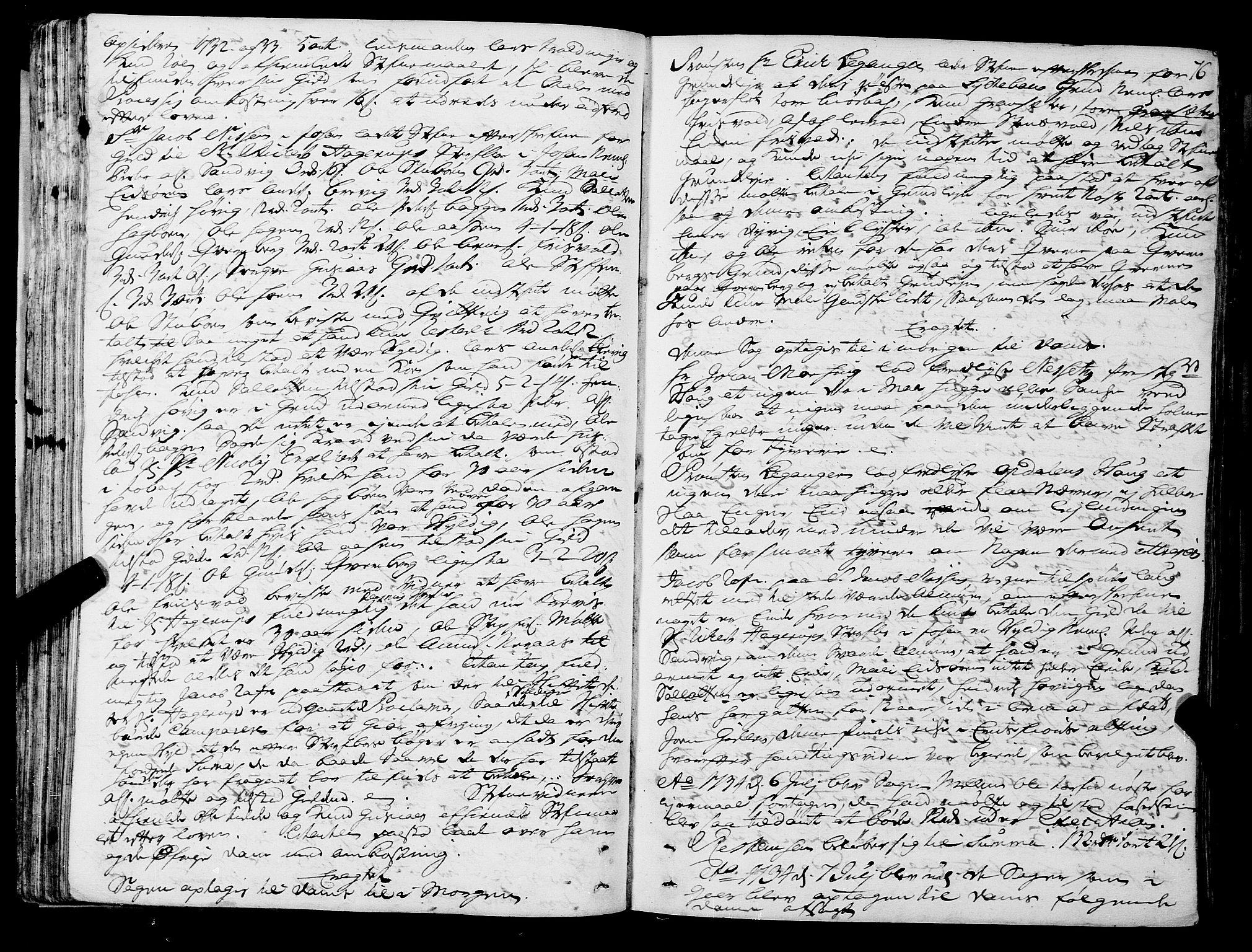 SAT, Romsdal sorenskriveri, 1/1A/L0011: Tingbok, 1732-1740, s. 75b-76a