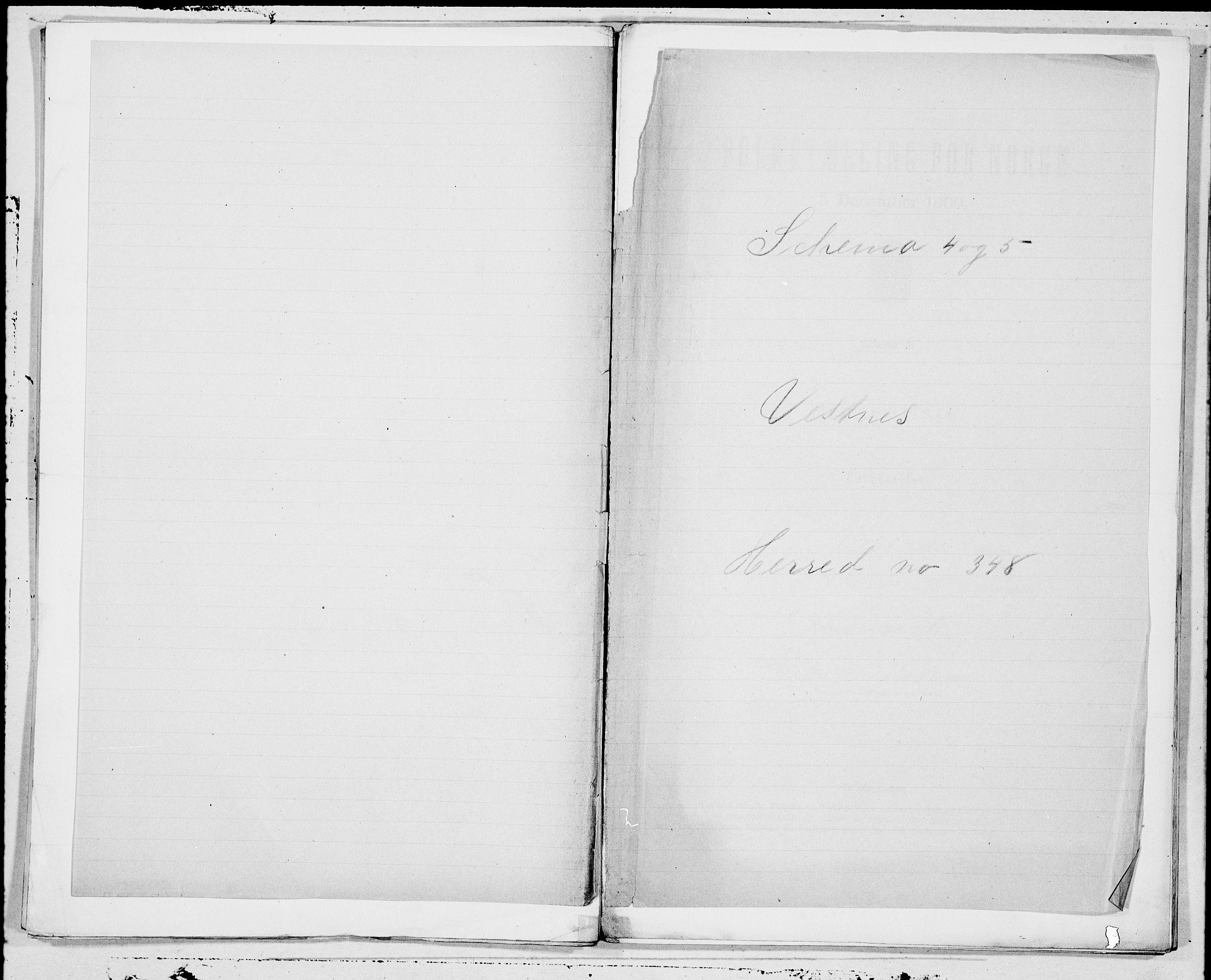 SAT, Folketelling 1900 for 1535 Vestnes herred, 1900, s. 1