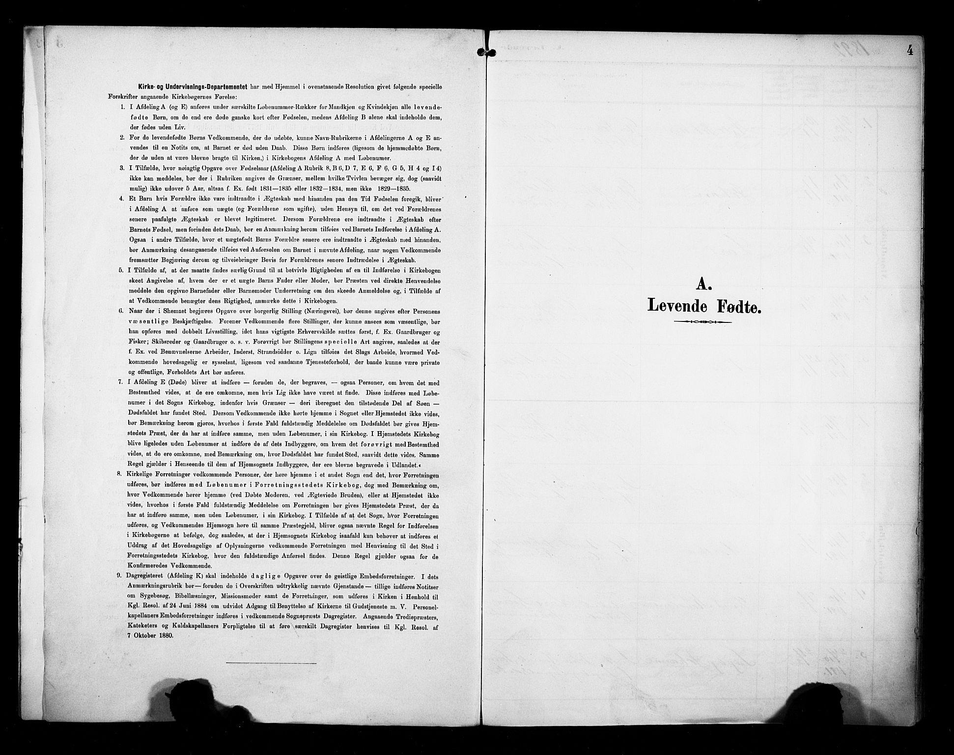 SAB, Evanger sokneprestembete*, Ministerialbok nr. A 2, 1892-1899, s. 4