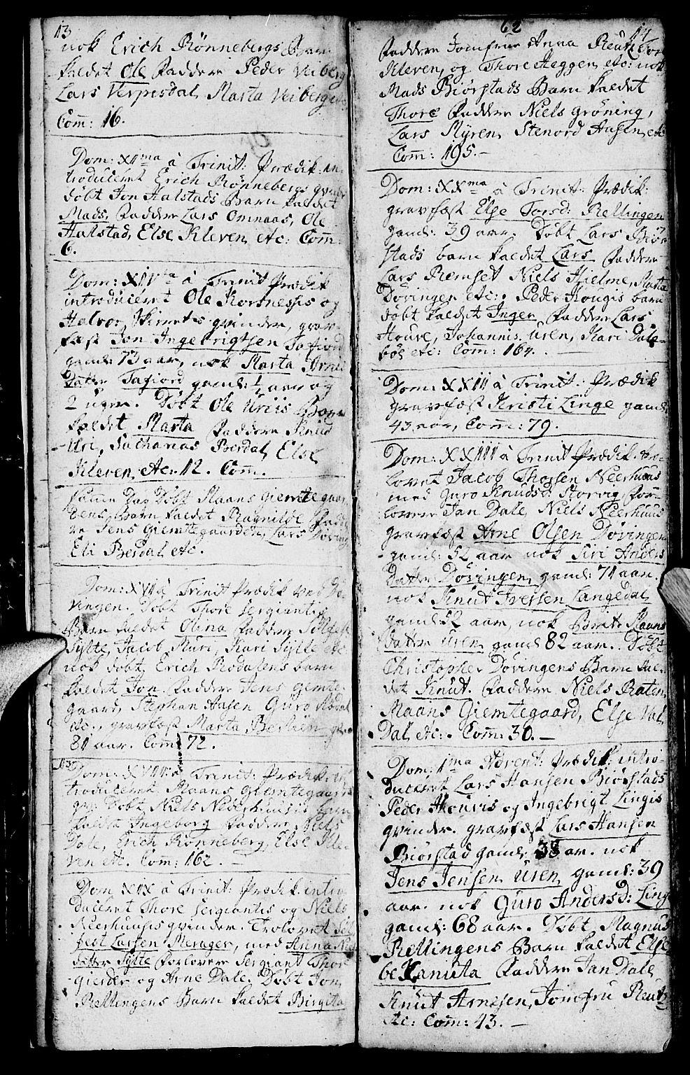 SAT, Ministerialprotokoller, klokkerbøker og fødselsregistre - Møre og Romsdal, 519/L0243: Ministerialbok nr. 519A02, 1760-1770, s. 13-14