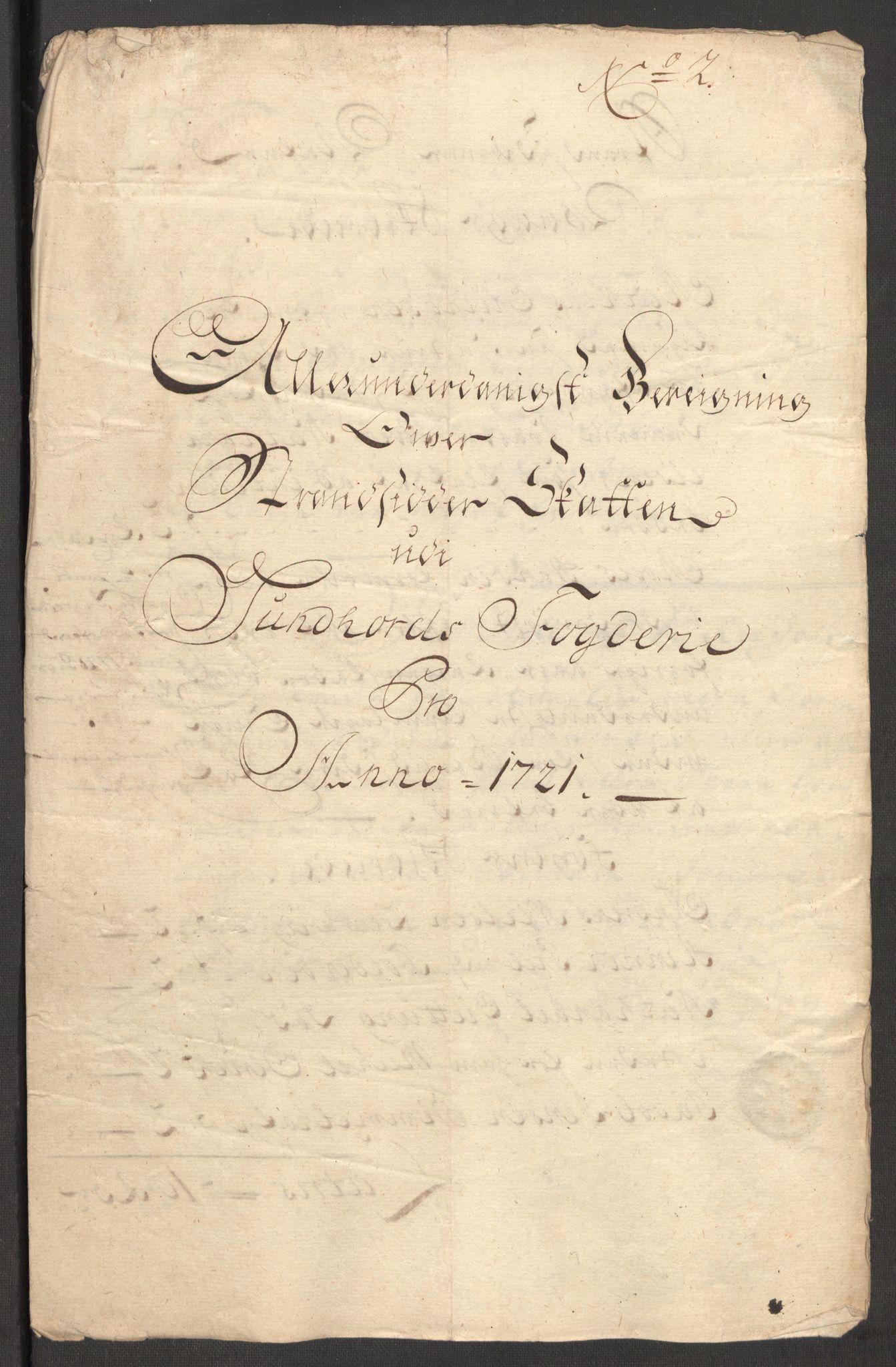 RA, Rentekammeret inntil 1814, Reviderte regnskaper, Fogderegnskap, R48/L3000: Fogderegnskap Sunnhordland og Hardanger, 1721, s. 73
