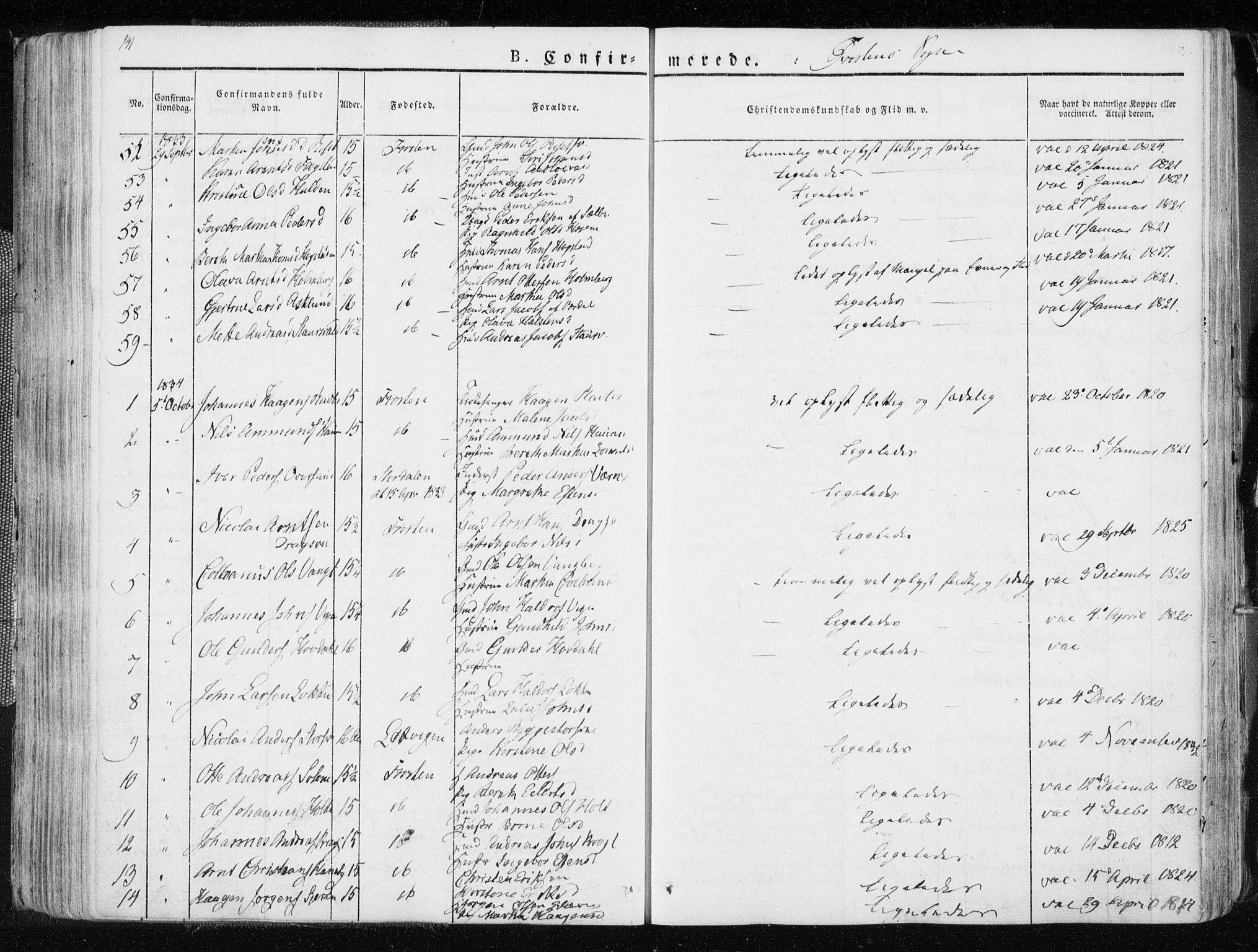 SAT, Ministerialprotokoller, klokkerbøker og fødselsregistre - Nord-Trøndelag, 713/L0114: Ministerialbok nr. 713A05, 1827-1839, s. 141