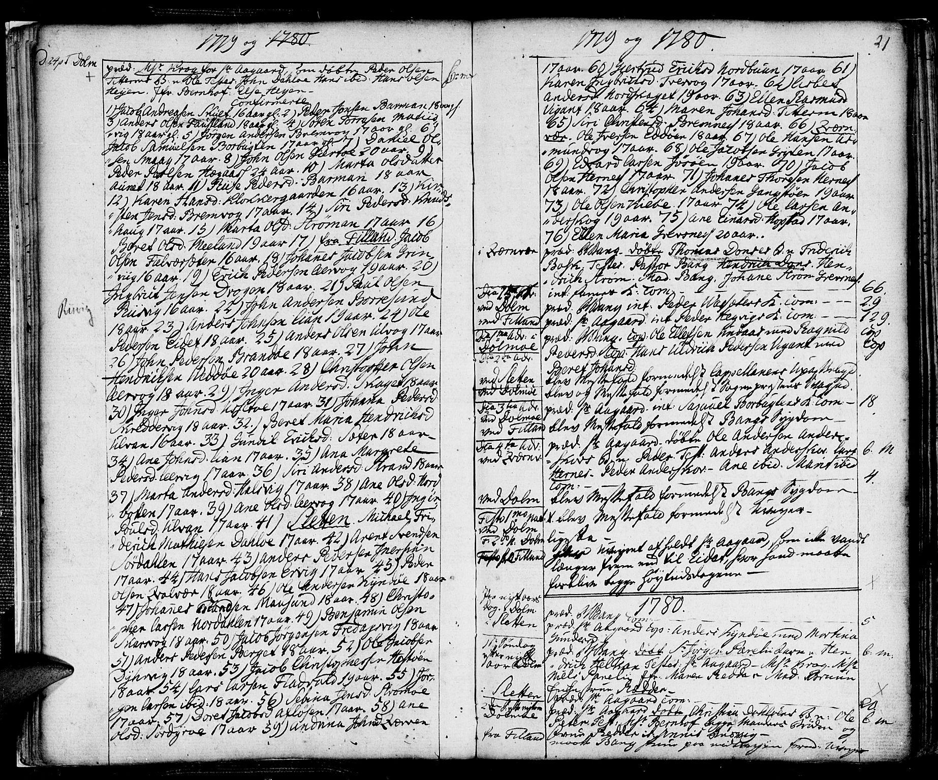 SAT, Ministerialprotokoller, klokkerbøker og fødselsregistre - Sør-Trøndelag, 634/L0526: Ministerialbok nr. 634A02, 1775-1818, s. 21