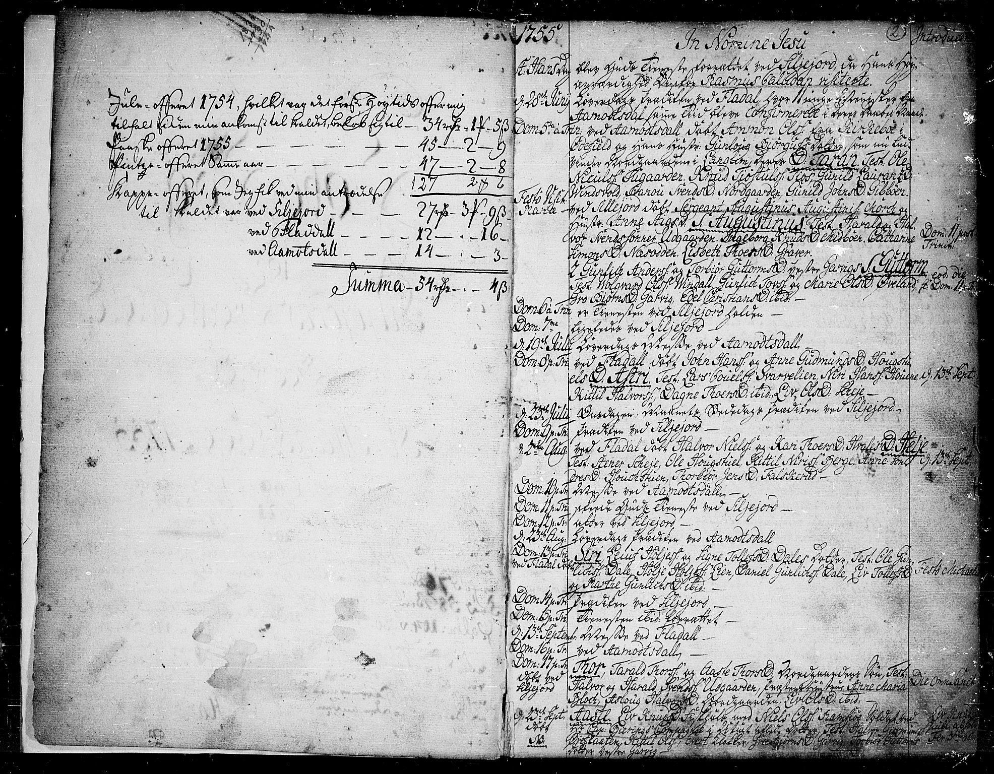 SAKO, Seljord kirkebøker, F/Fa/L0007: Ministerialbok nr. I 7, 1755-1800, s. 2