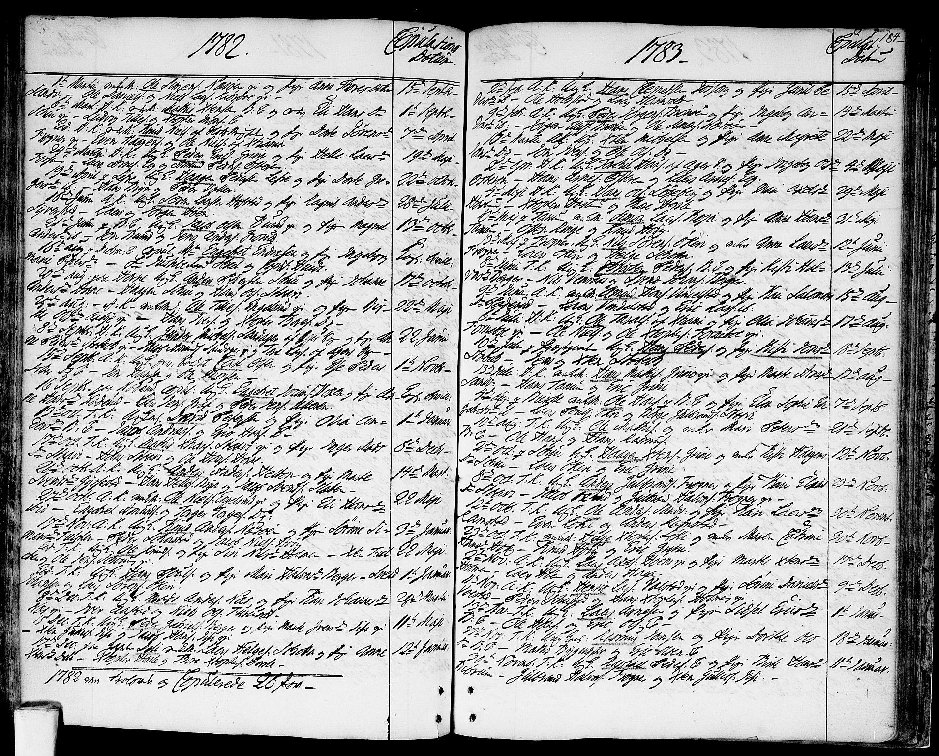 SAO, Asker prestekontor Kirkebøker, F/Fa/L0003: Ministerialbok nr. I 3, 1767-1807, s. 184