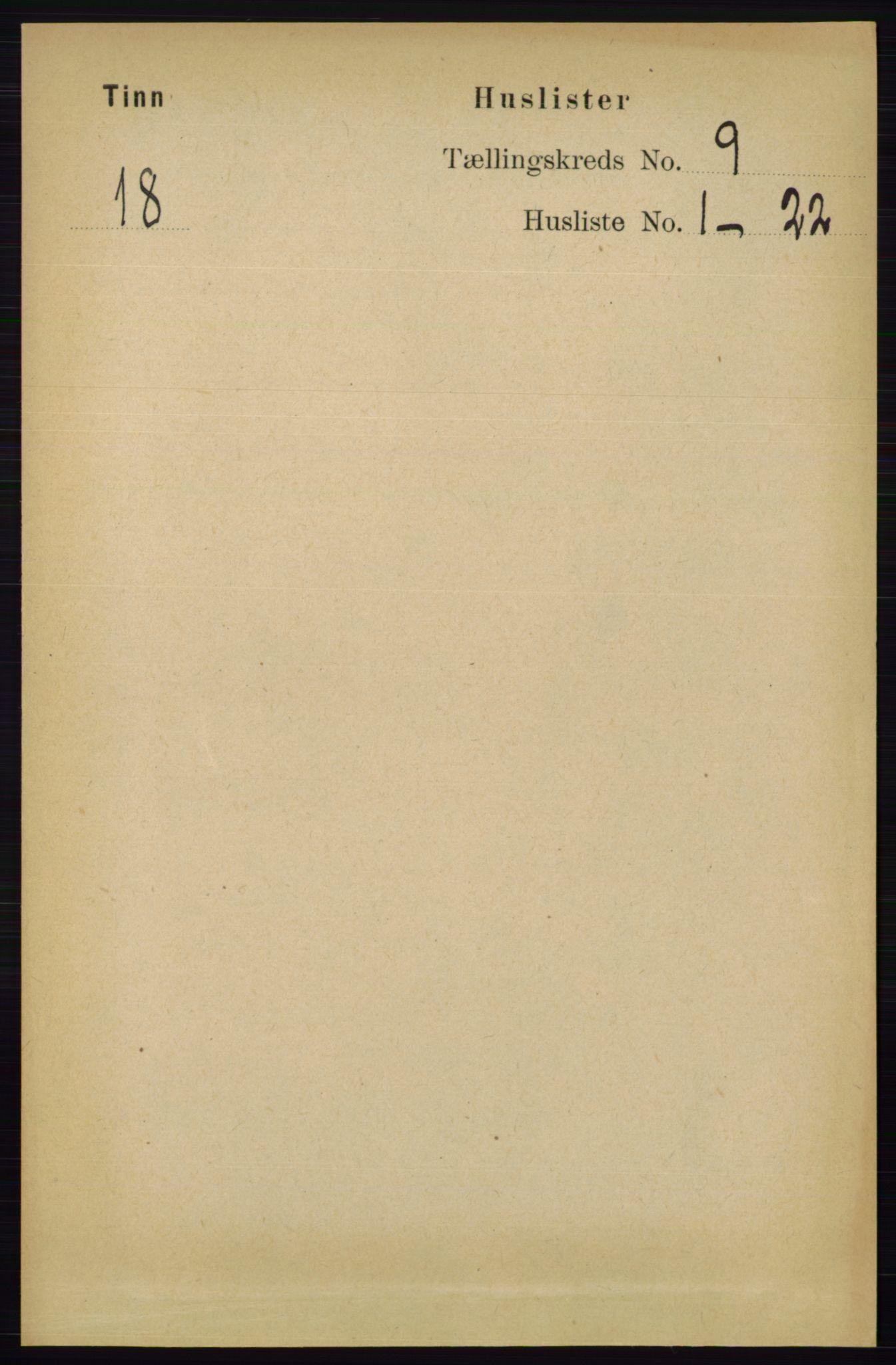 RA, Folketelling 1891 for 0826 Tinn herred, 1891, s. 1794