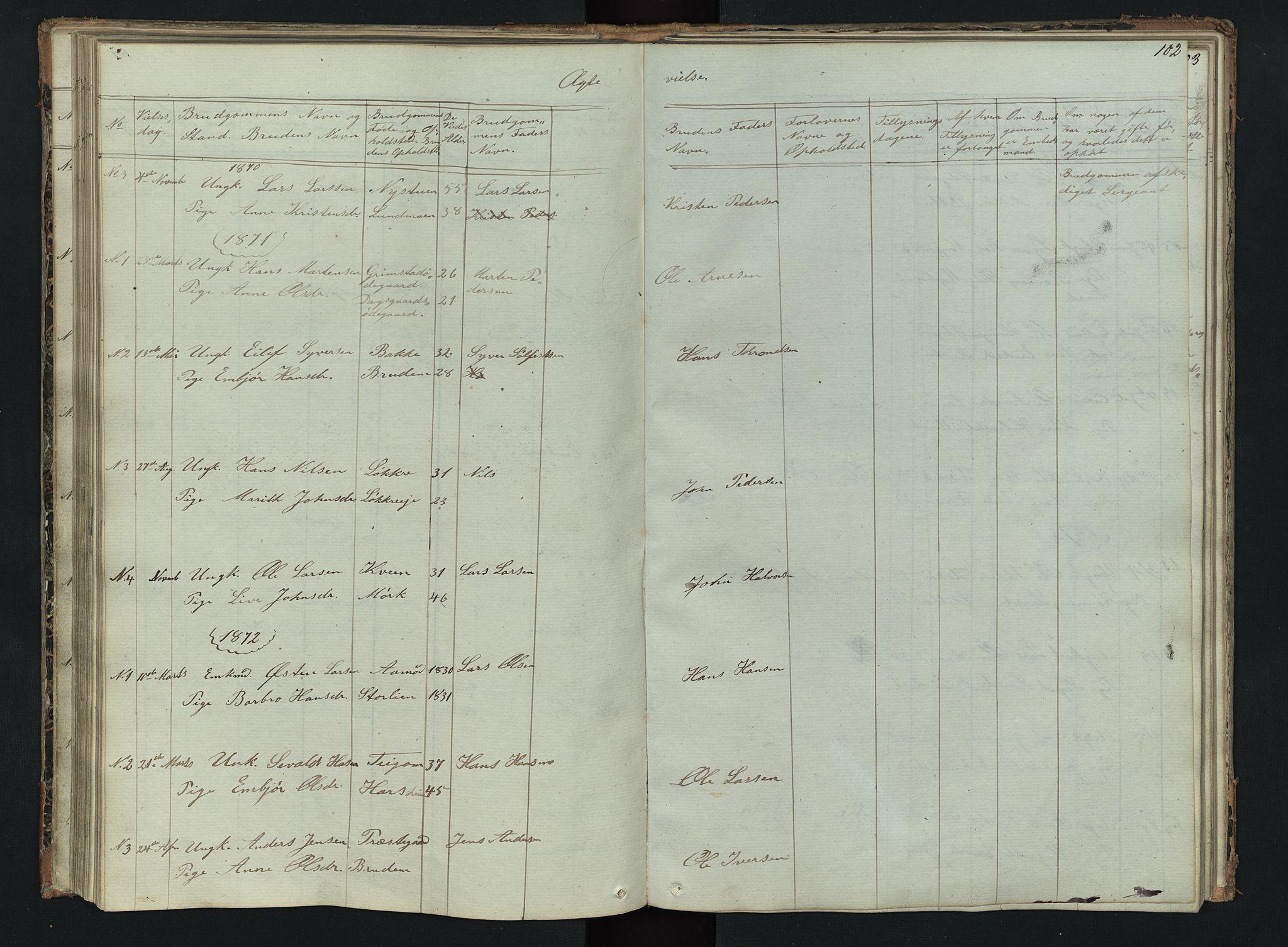 SAH, Skjåk prestekontor, Klokkerbok nr. 2, 1867-1894, s. 102
