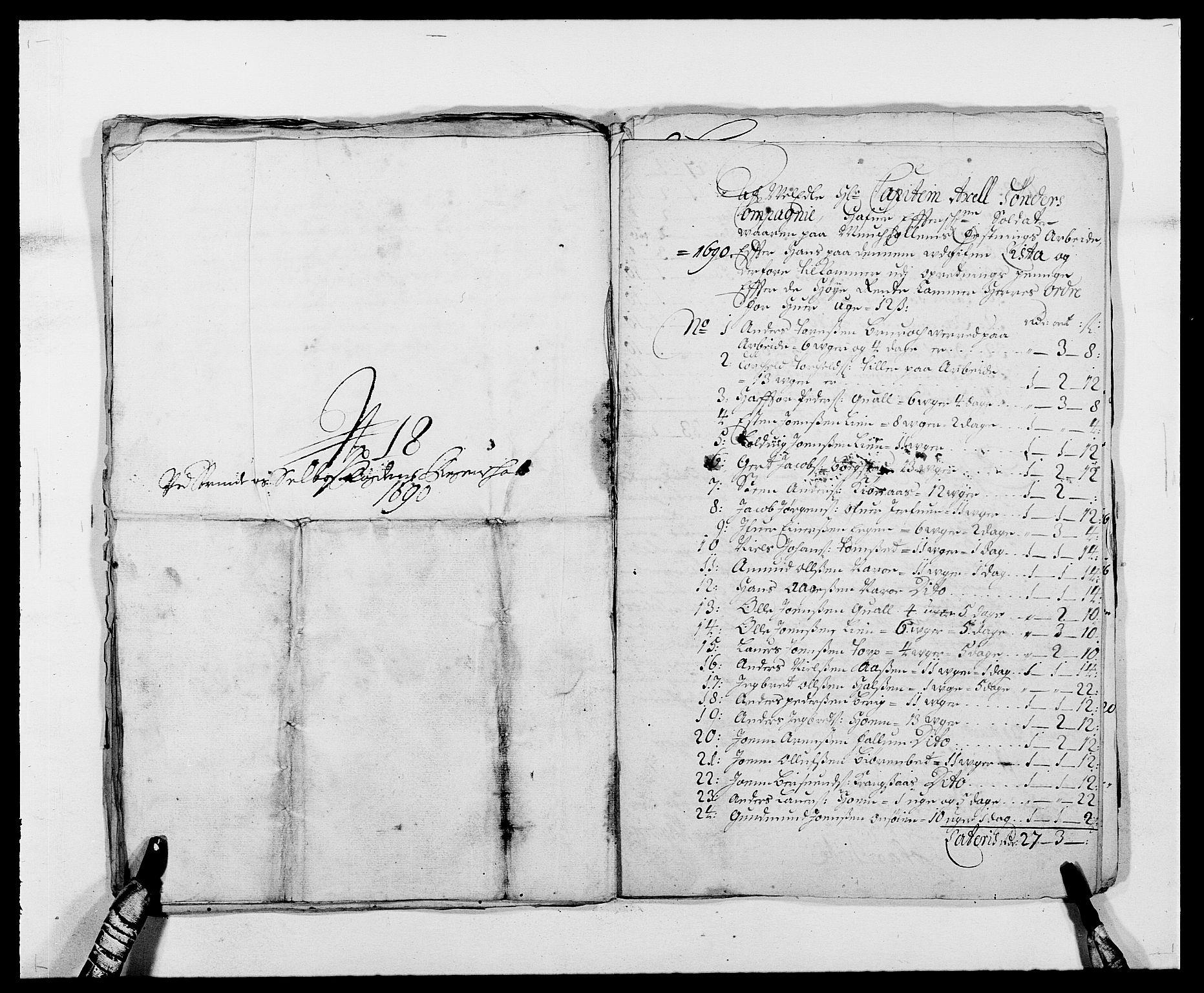 RA, Rentekammeret inntil 1814, Reviderte regnskaper, Fogderegnskap, R61/L4102: Fogderegnskap Strinda og Selbu, 1689-1690, s. 298