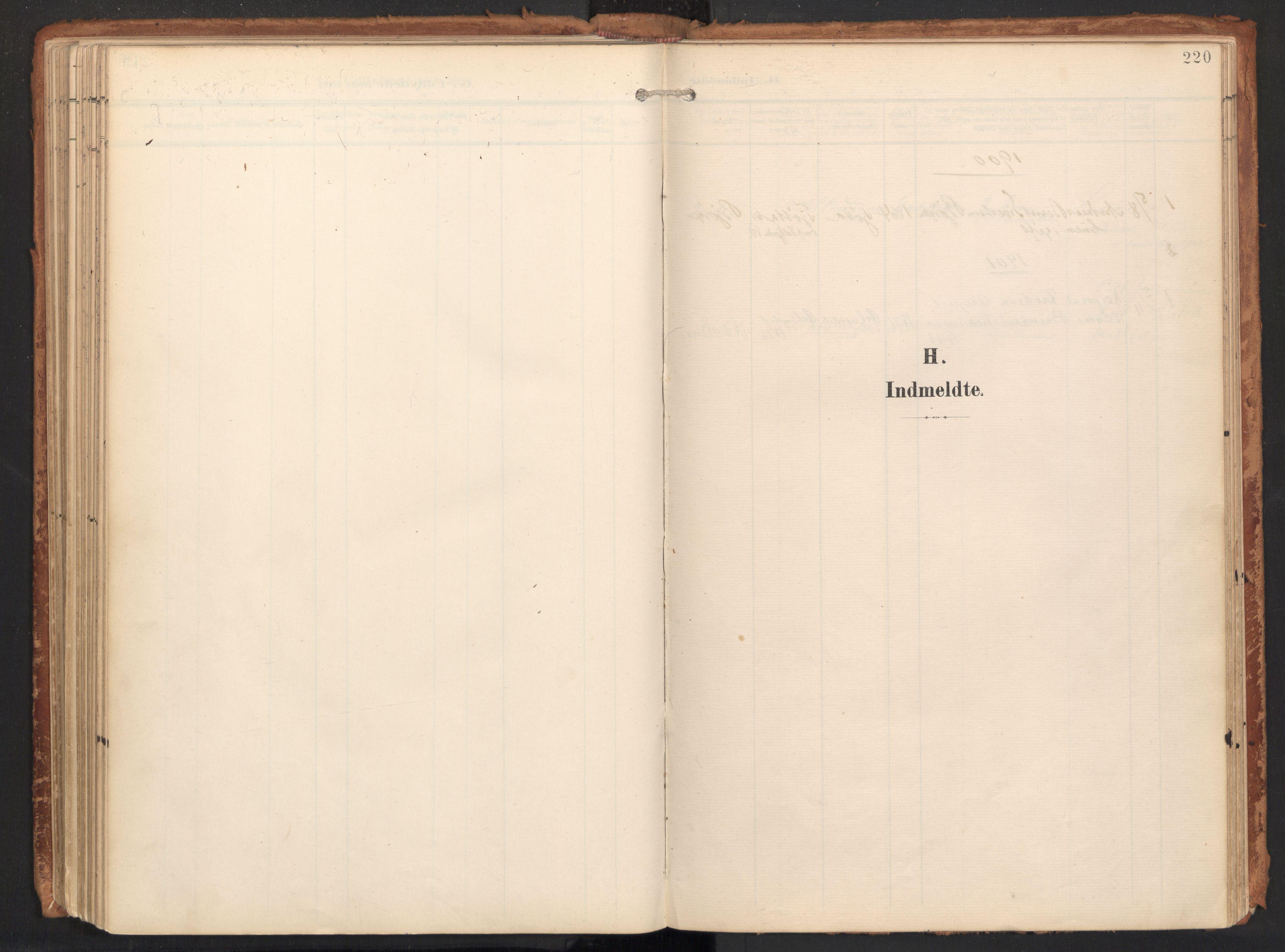 SAT, Ministerialprotokoller, klokkerbøker og fødselsregistre - Nordland, 814/L0227: Ministerialbok nr. 814A08, 1899-1920, s. 220