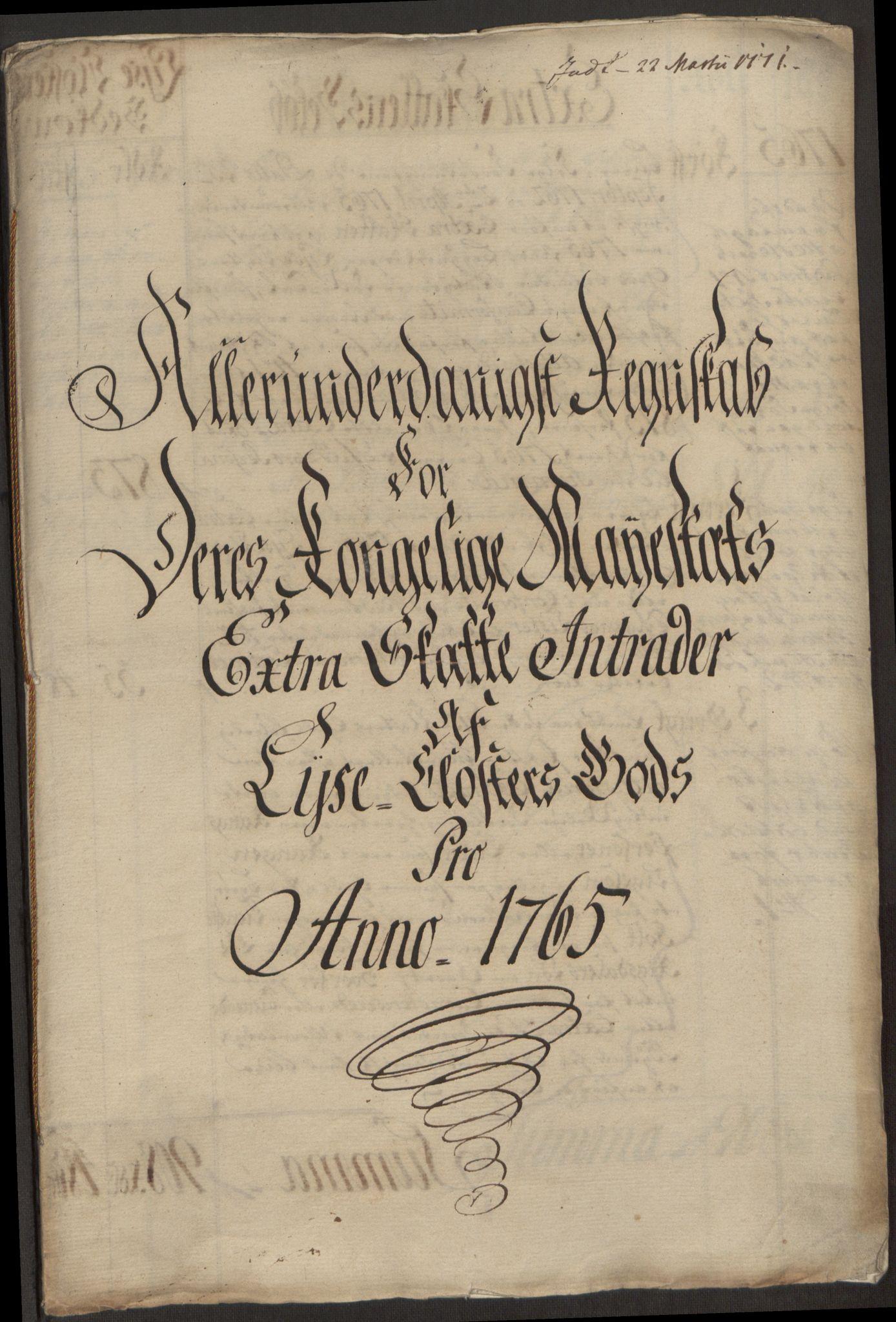 RA, Rentekammeret inntil 1814, Reviderte regnskaper, Fogderegnskap, R50/L3180: Ekstraskatten Lyse kloster, 1762-1783, s. 129