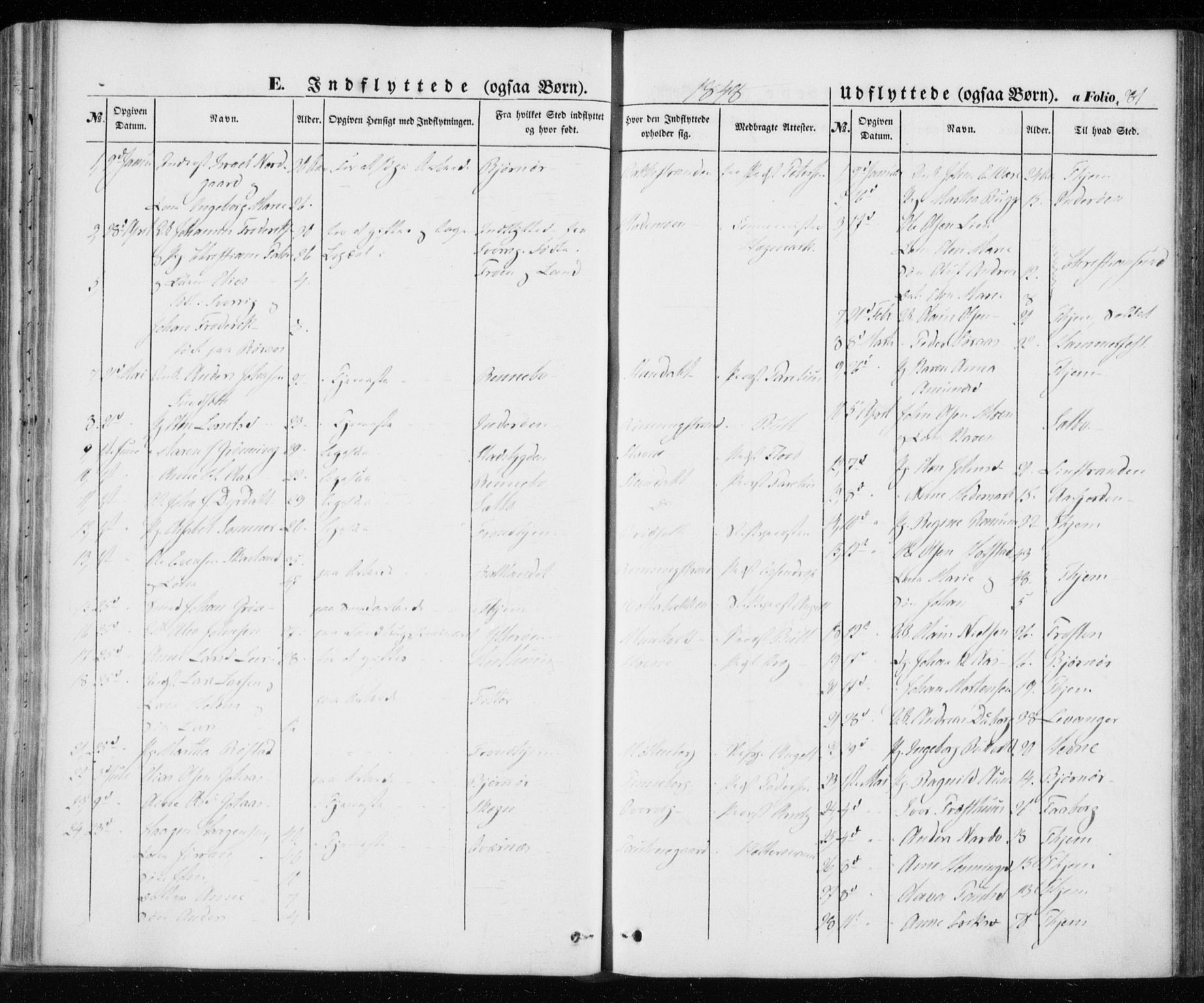 SAT, Ministerialprotokoller, klokkerbøker og fødselsregistre - Sør-Trøndelag, 606/L0291: Ministerialbok nr. 606A06, 1848-1856, s. 281