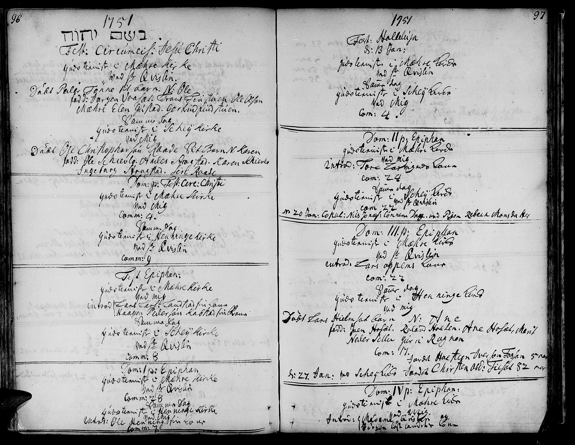 SAT, Ministerialprotokoller, klokkerbøker og fødselsregistre - Nord-Trøndelag, 735/L0330: Ministerialbok nr. 735A01, 1740-1766, s. 96-97