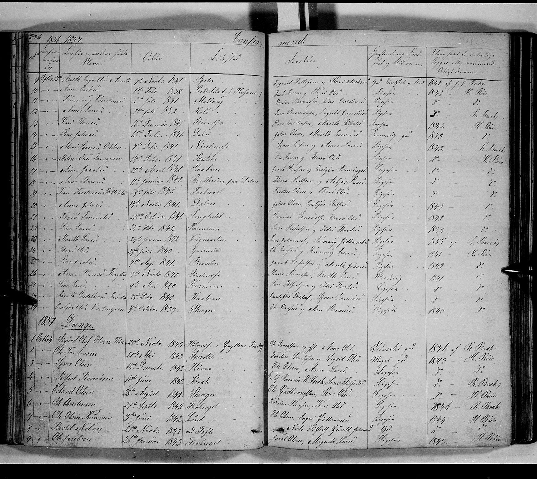 SAH, Lom prestekontor, L/L0004: Klokkerbok nr. 4, 1845-1864, s. 236-237