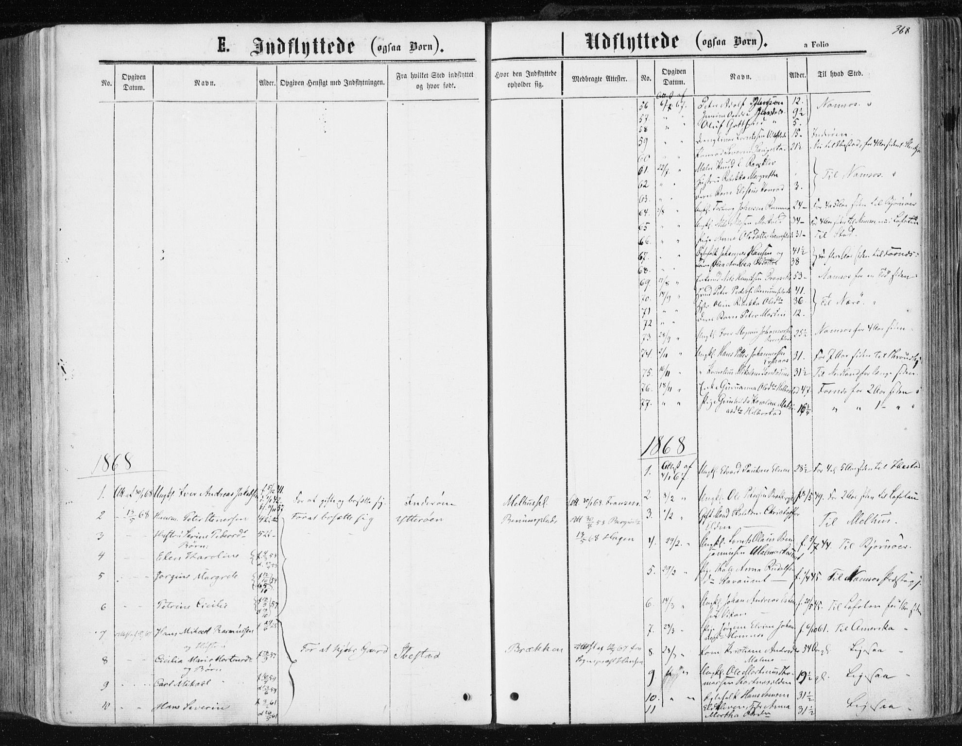 SAT, Ministerialprotokoller, klokkerbøker og fødselsregistre - Nord-Trøndelag, 741/L0394: Ministerialbok nr. 741A08, 1864-1877, s. 368