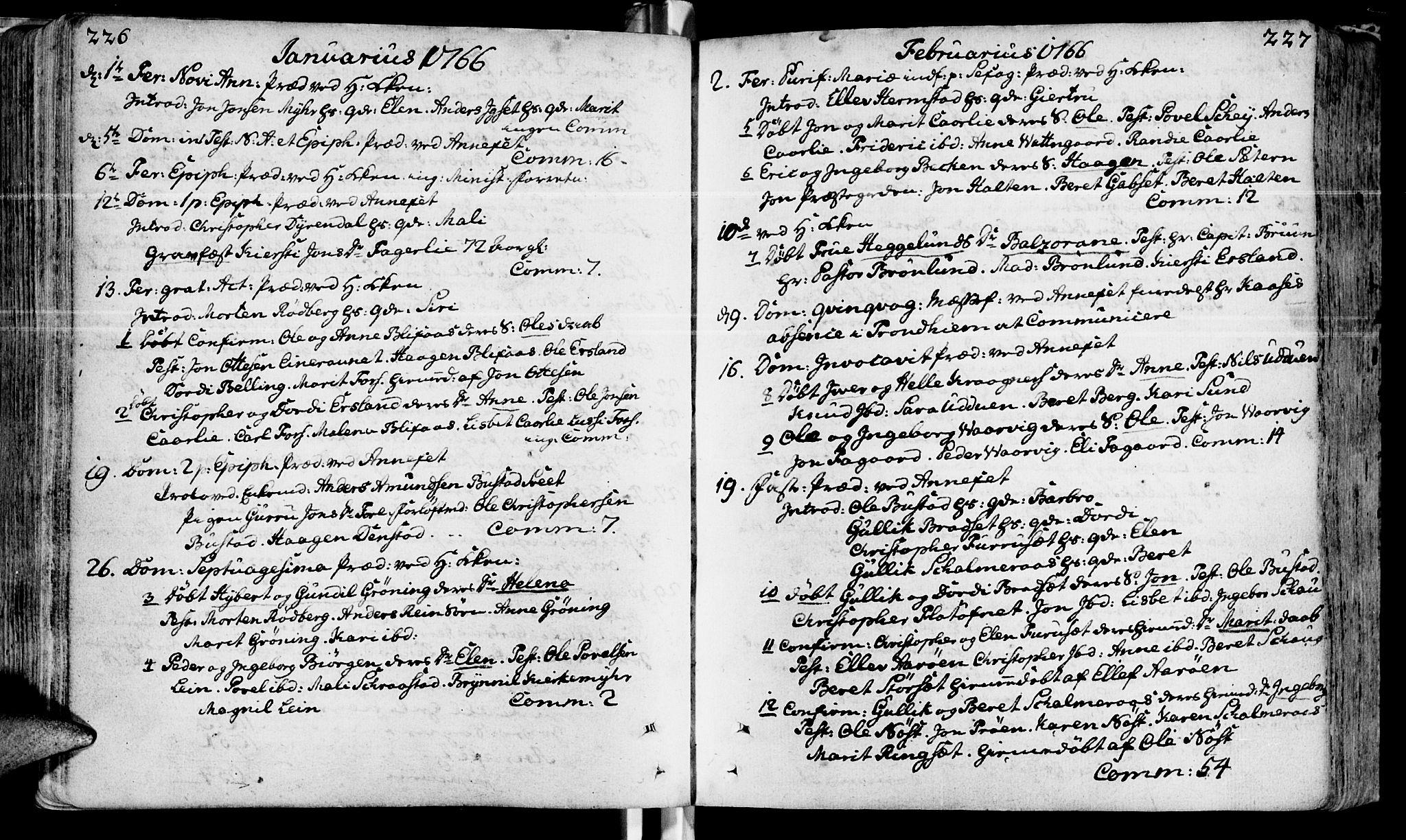 SAT, Ministerialprotokoller, klokkerbøker og fødselsregistre - Sør-Trøndelag, 646/L0605: Ministerialbok nr. 646A03, 1751-1790, s. 226-227