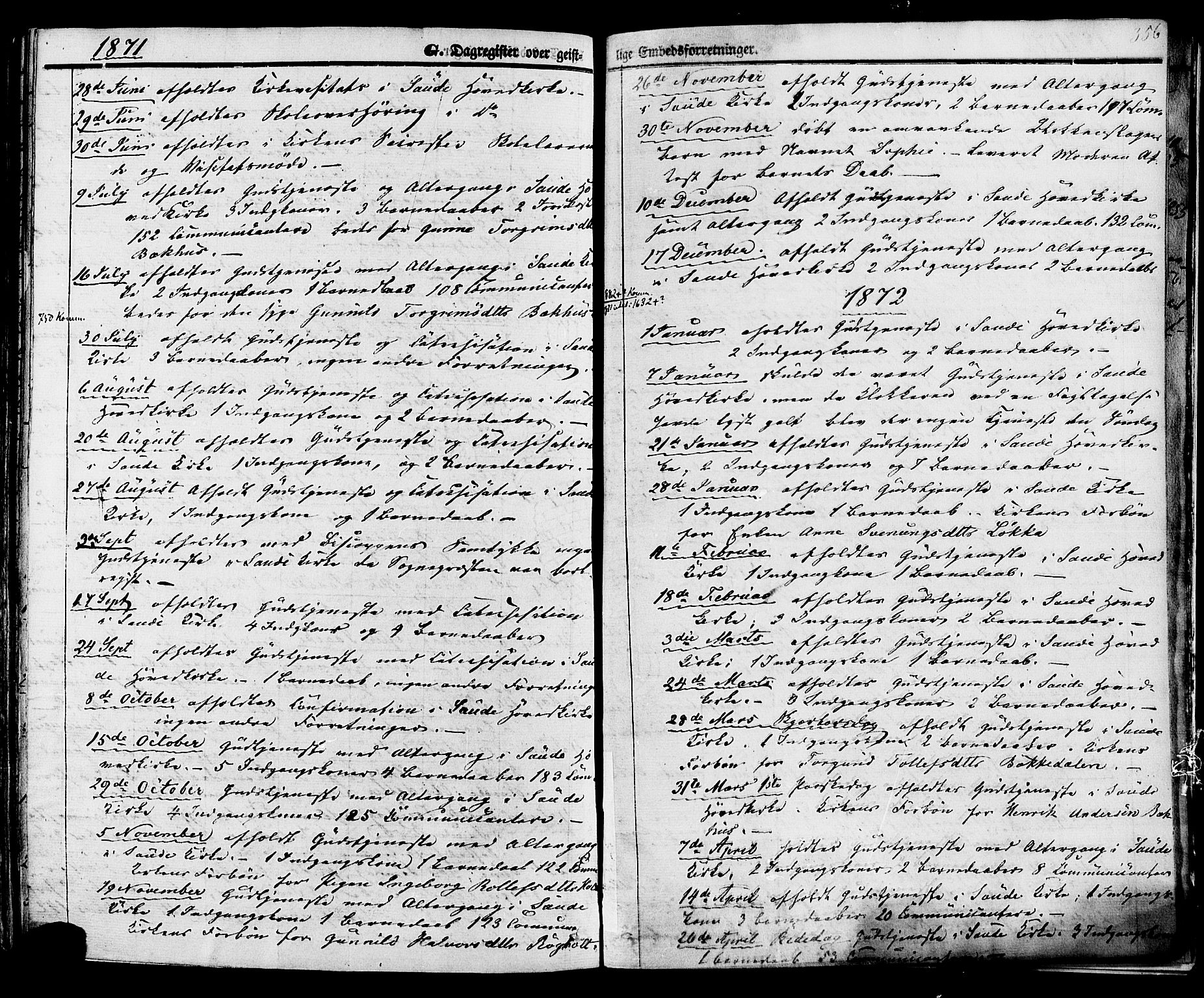 SAKO, Sauherad kirkebøker, F/Fa/L0007: Ministerialbok nr. I 7, 1851-1873, s. 356