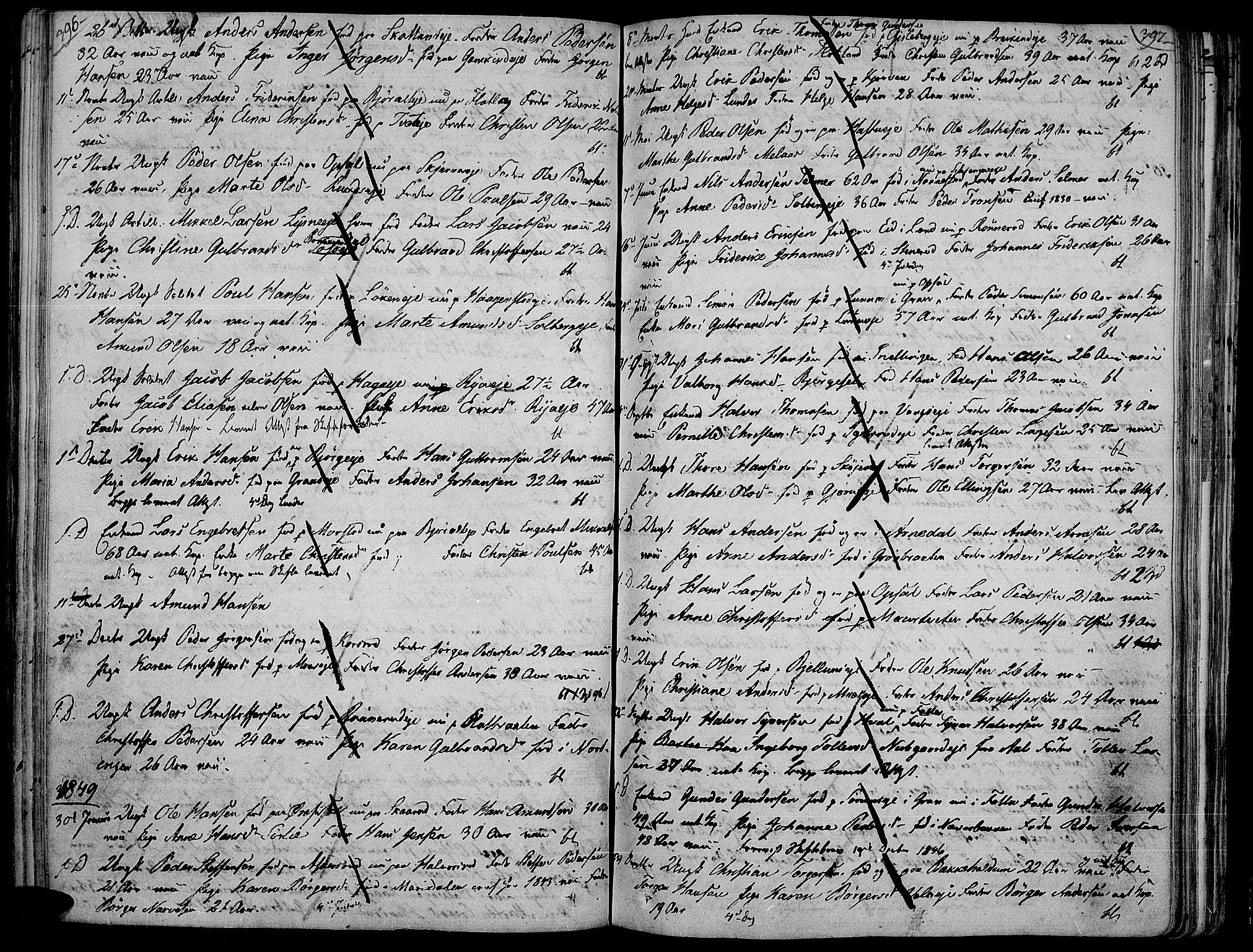 SAH, Jevnaker prestekontor, Ministerialbok nr. 4, 1800-1861, s. 396-397