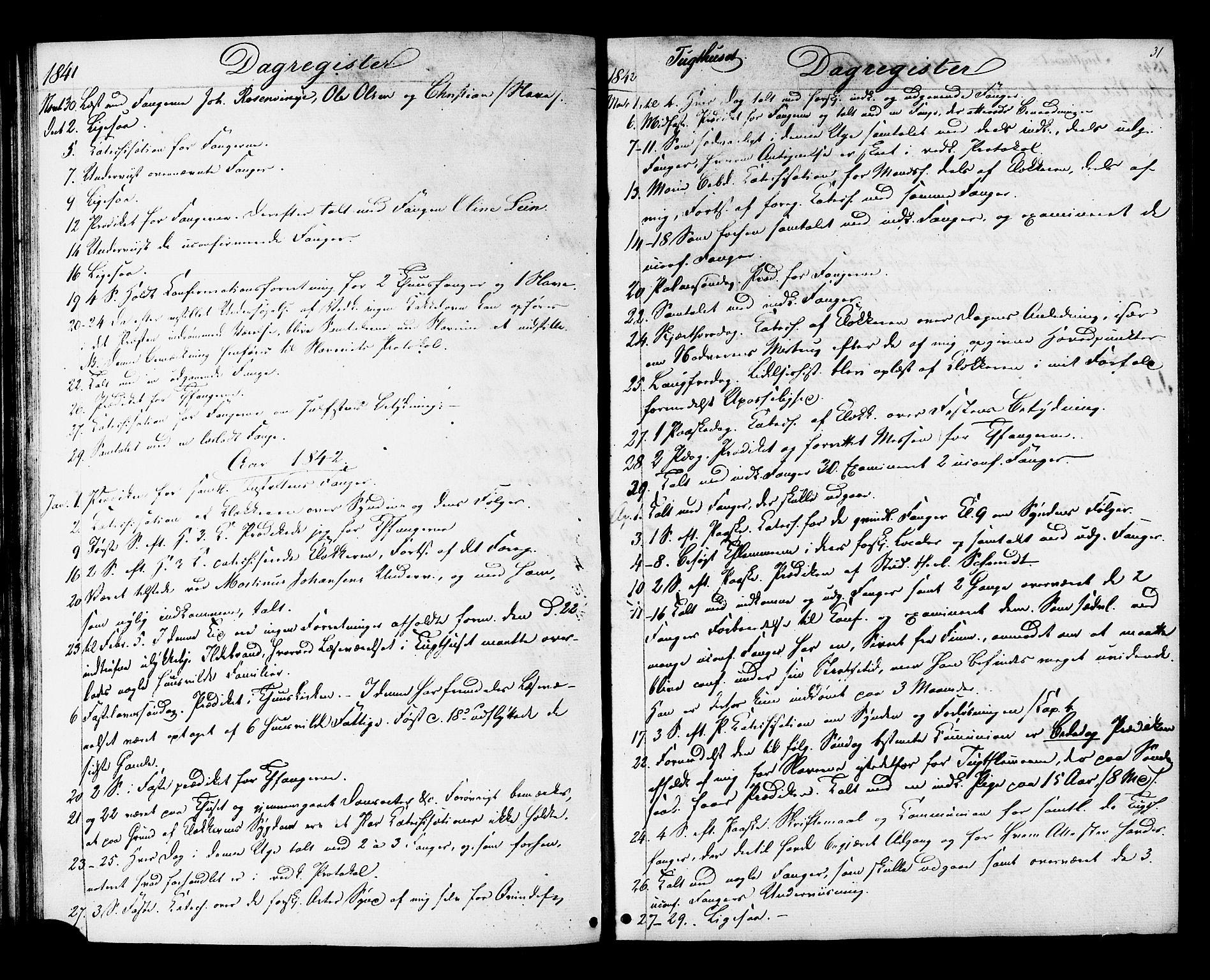 SAT, Ministerialprotokoller, klokkerbøker og fødselsregistre - Sør-Trøndelag, 624/L0480: Ministerialbok nr. 624A01, 1841-1864, s. 31