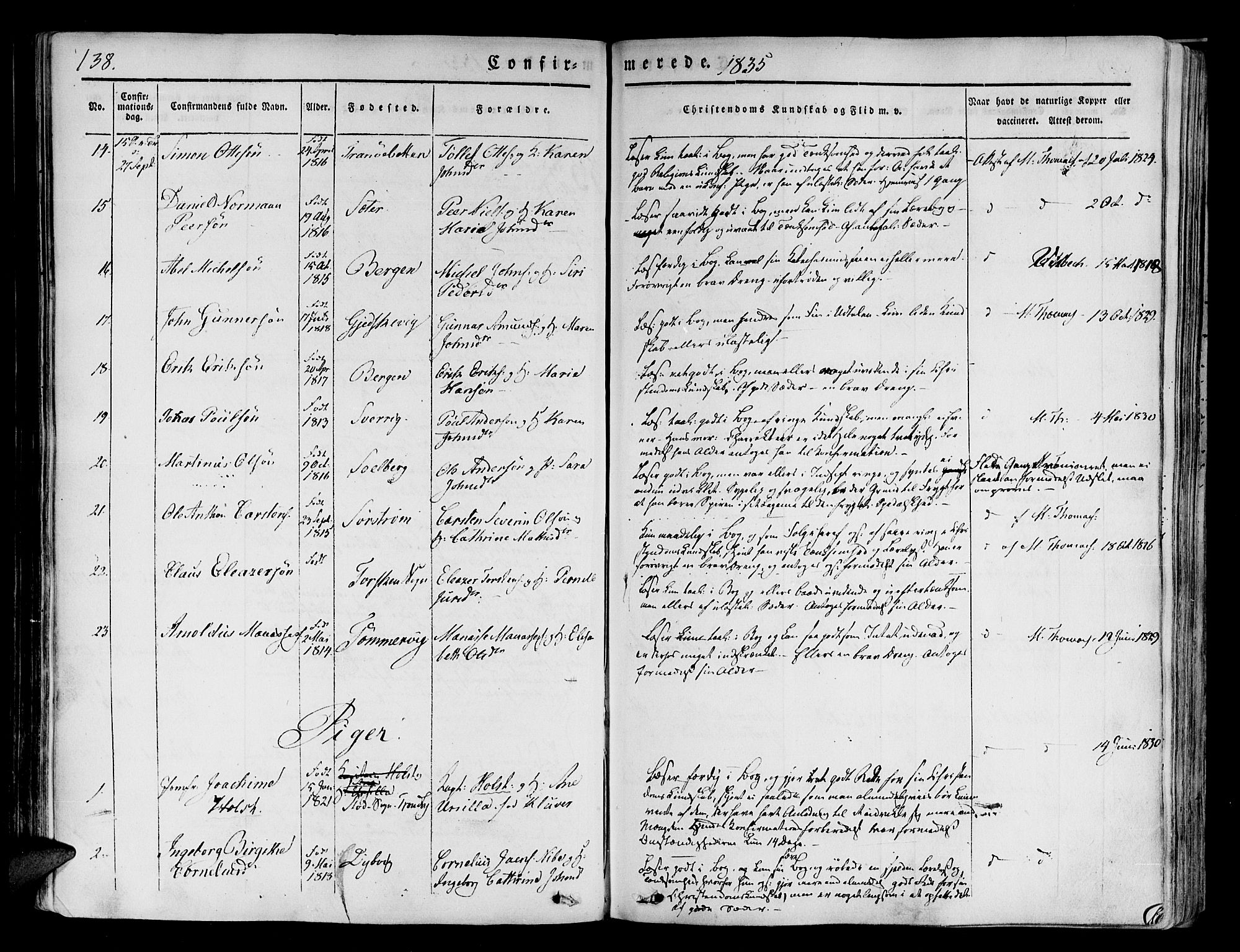 SATØ, Tranøy sokneprestkontor, I/Ia/Iaa/L0005kirke: Ministerialbok nr. 5, 1829-1844, s. 138