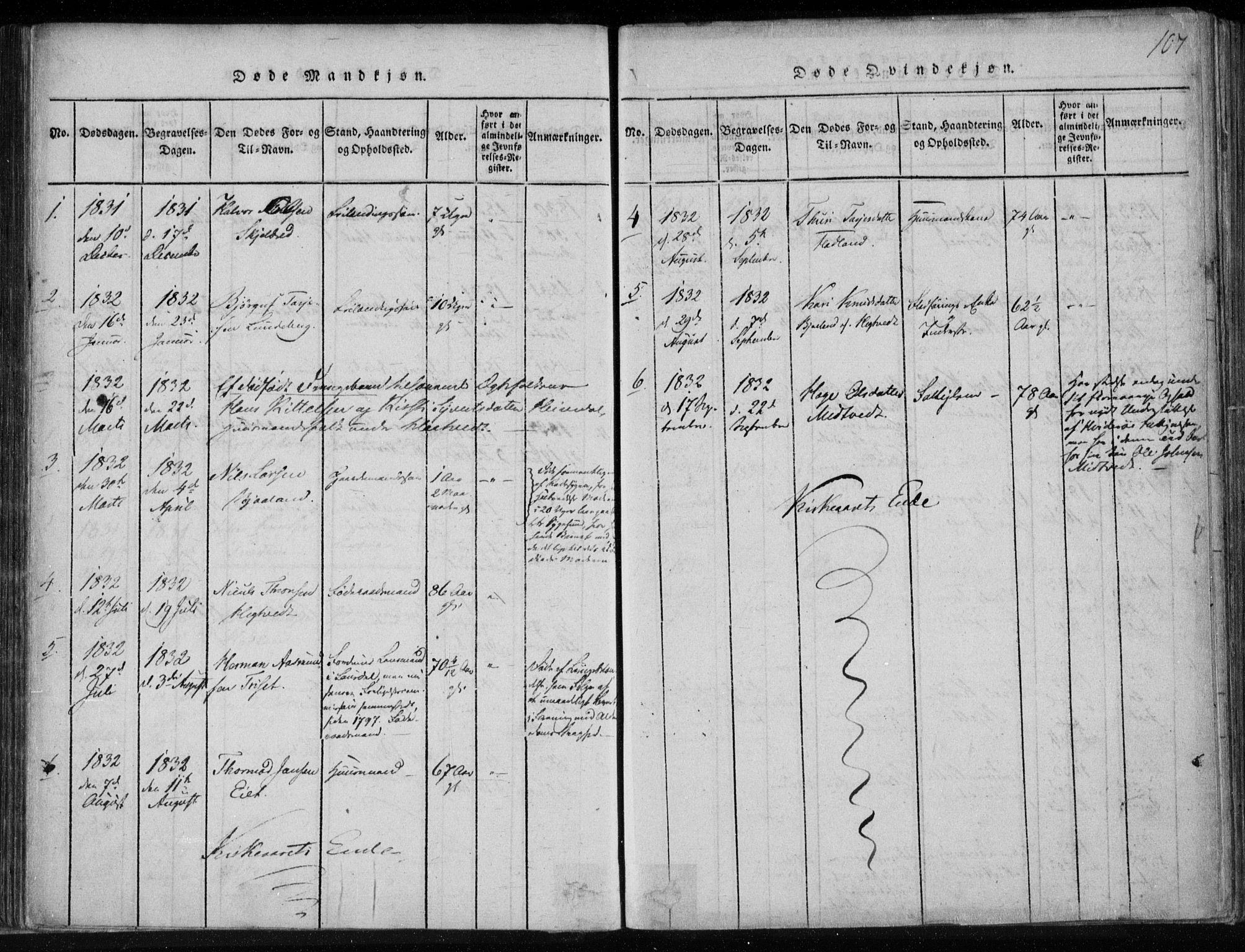 SAKO, Lårdal kirkebøker, F/Fa/L0005: Ministerialbok nr. I 5, 1815-1860, s. 107