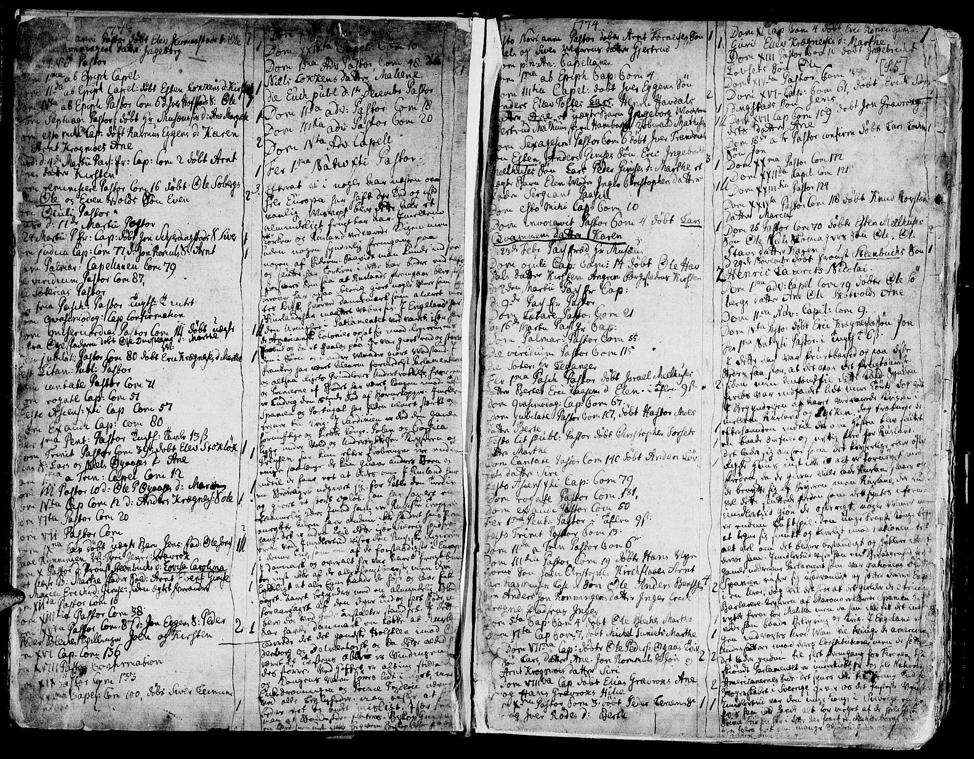 SAT, Ministerialprotokoller, klokkerbøker og fødselsregistre - Sør-Trøndelag, 691/L1061: Ministerialbok nr. 691A02 /1, 1768-1815, s. 5