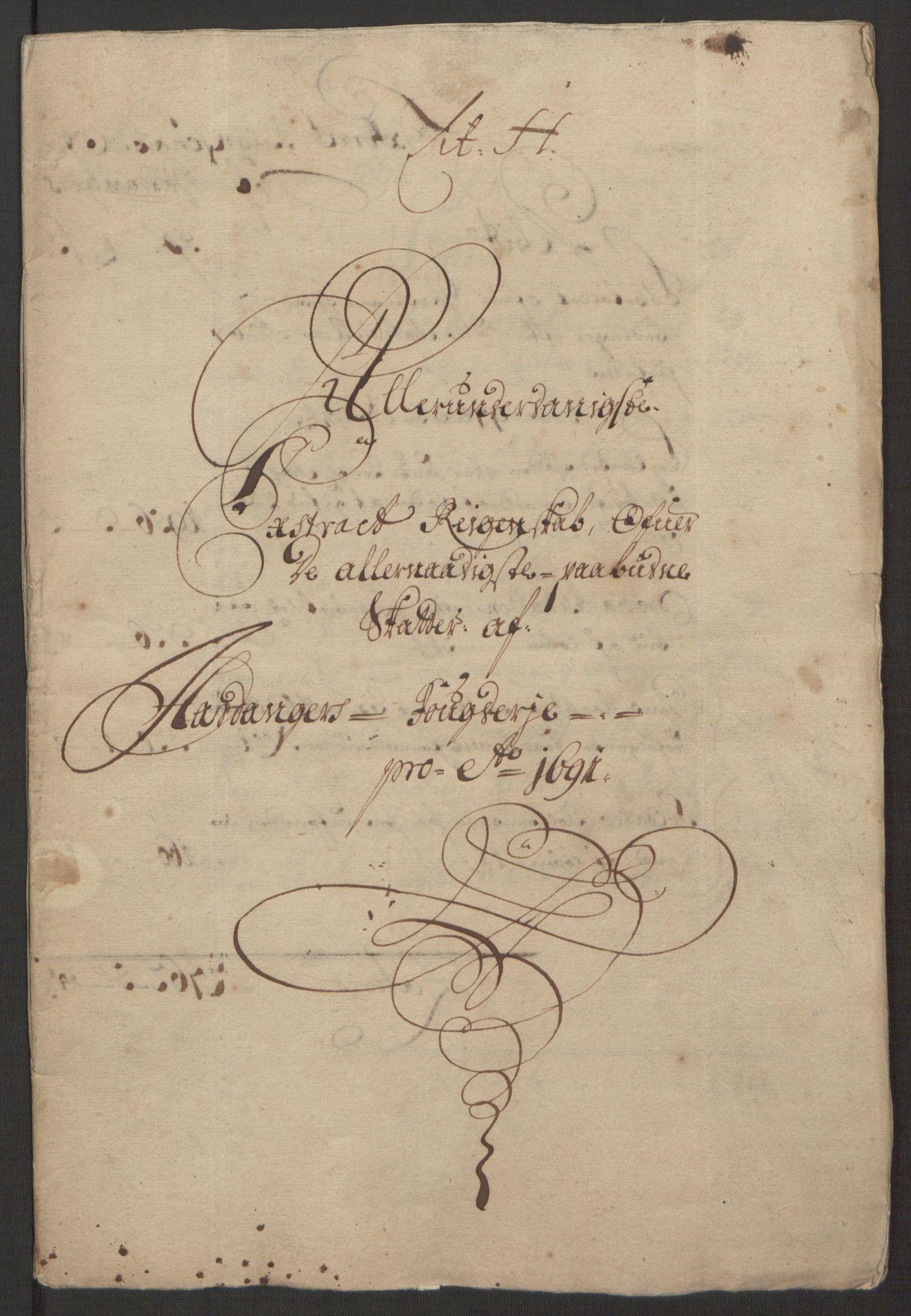 RA, Rentekammeret inntil 1814, Reviderte regnskaper, Fogderegnskap, R48/L2973: Fogderegnskap Sunnhordland og Hardanger, 1691-1692, s. 155