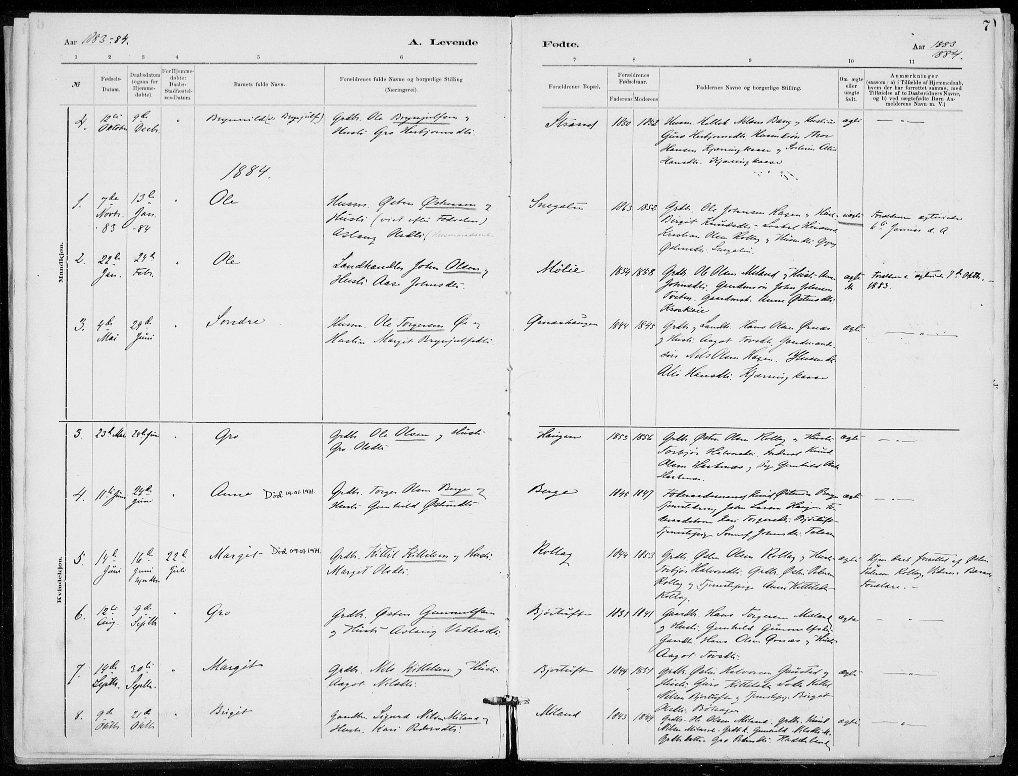 SAKO, Tinn kirkebøker, F/Fb/L0002: Ministerialbok nr. II 2, 1878-1917, s. 7