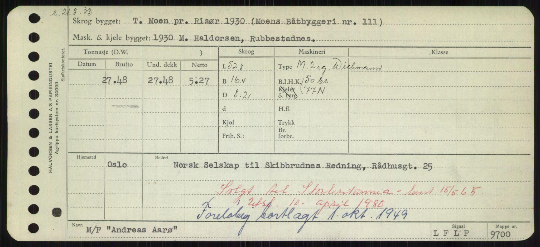 RA, Sjøfartsdirektoratet med forløpere, Skipsmålingen, H/Hd/L0001: Fartøy, A-Anv, s. 575