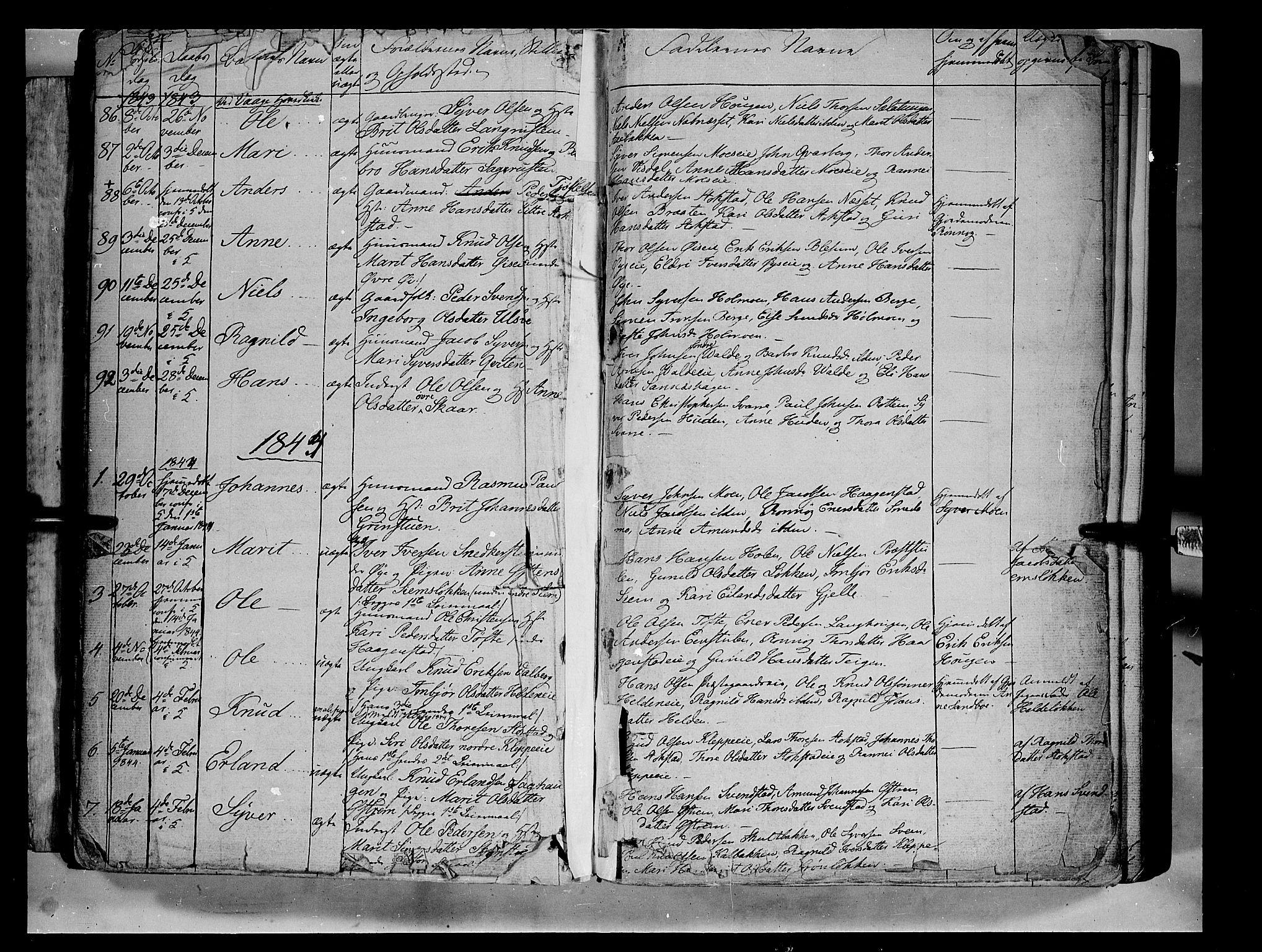 SAH, Vågå prestekontor, Ministerialbok nr. 5 /1, 1842-1856, s. 11
