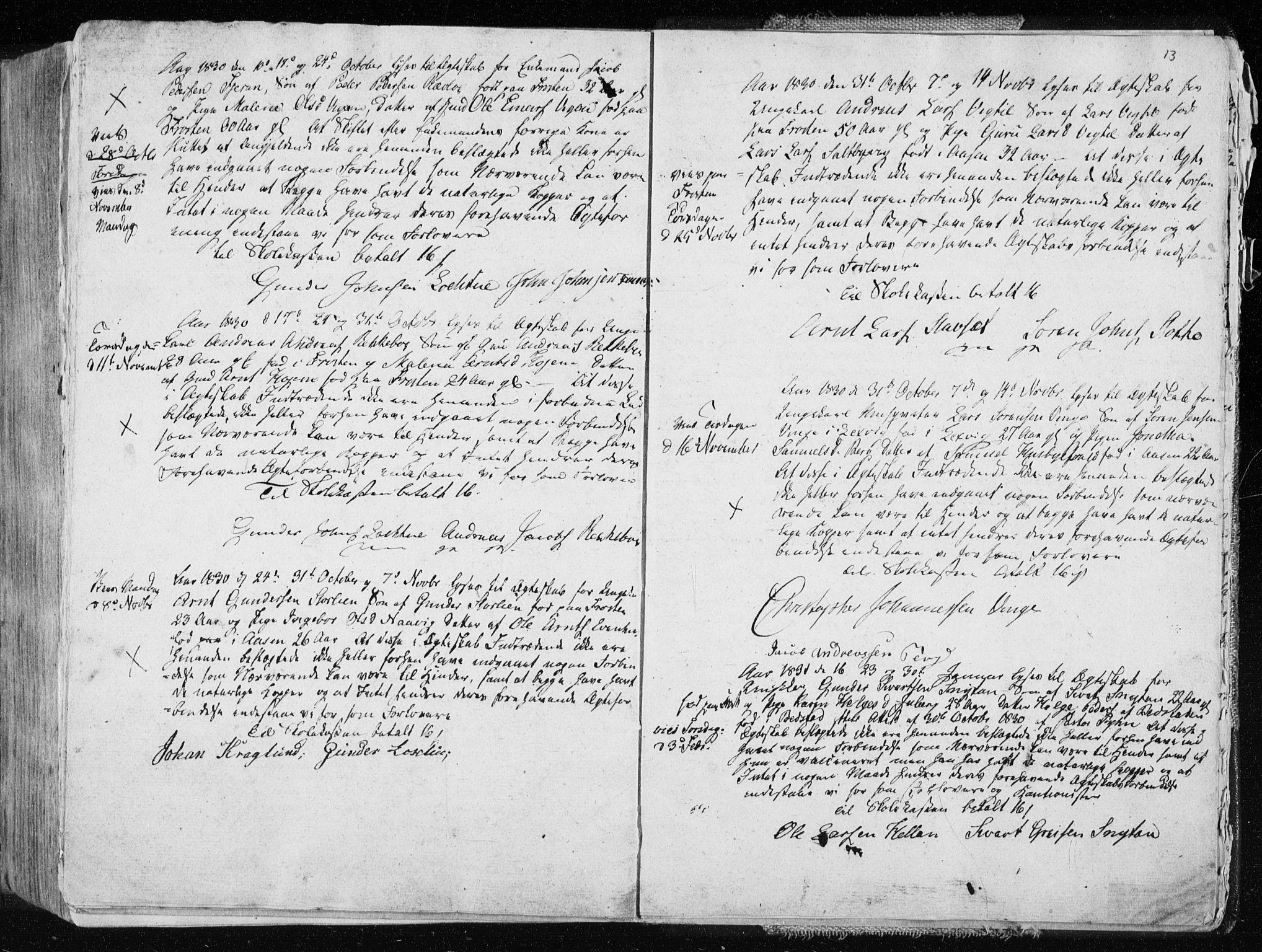 SAT, Ministerialprotokoller, klokkerbøker og fødselsregistre - Nord-Trøndelag, 713/L0114: Ministerialbok nr. 713A05, 1827-1839, s. 13