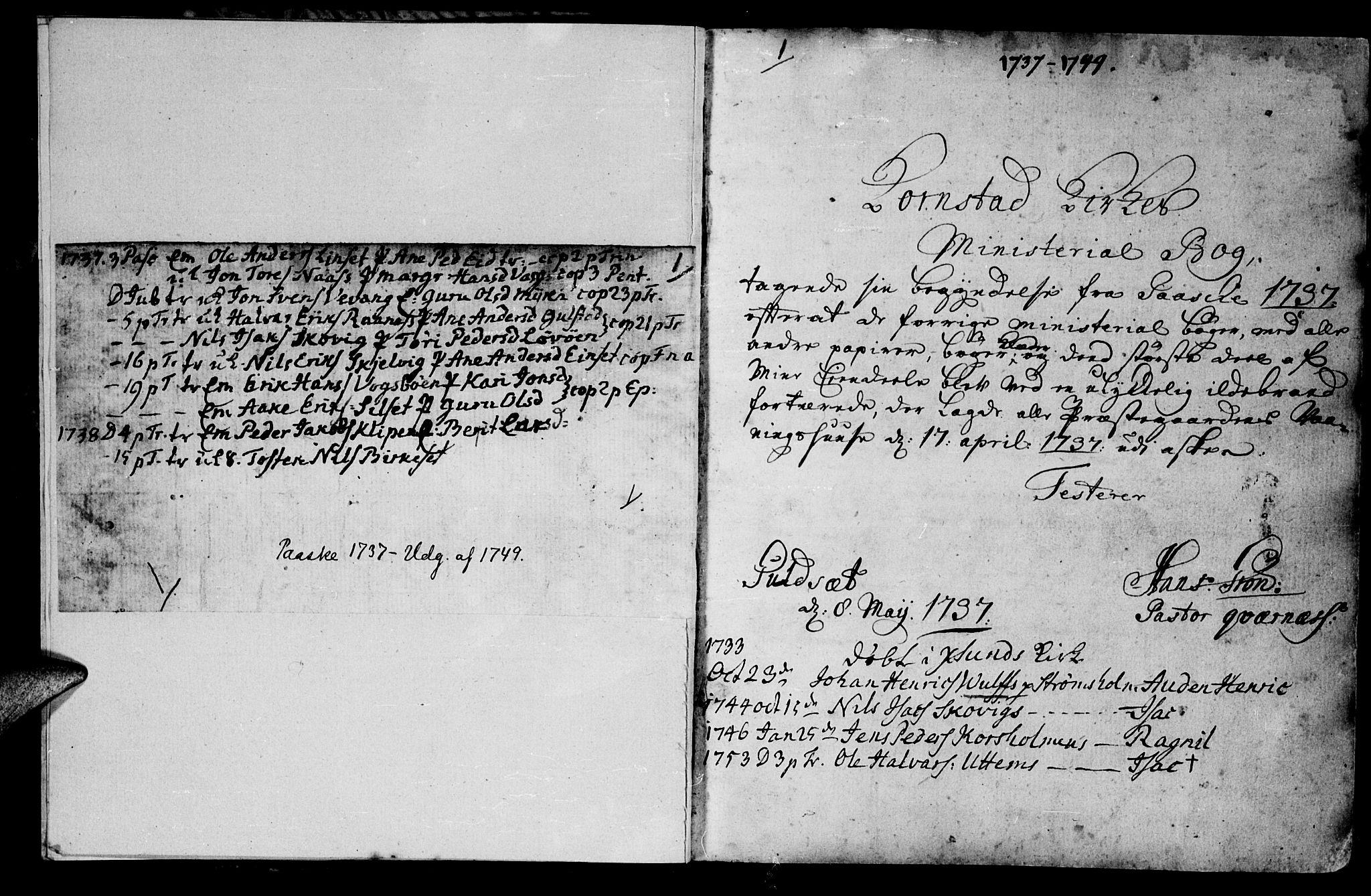SAT, Ministerialprotokoller, klokkerbøker og fødselsregistre - Møre og Romsdal, 570/L0827: Ministerialbok nr. 570A01, 1737-1749