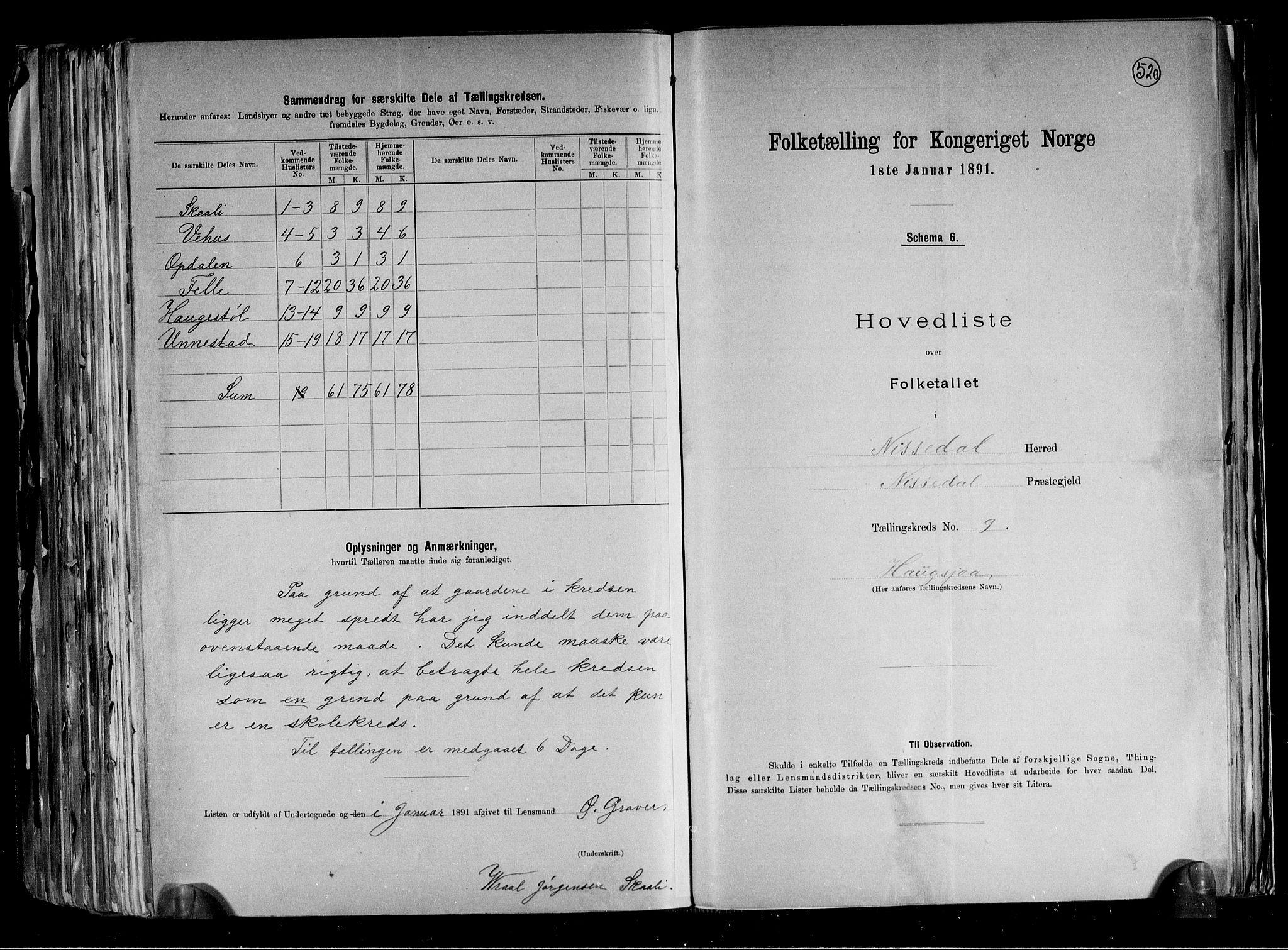 RA, Folketelling 1891 for 0830 Nissedal herred, 1891, s. 21