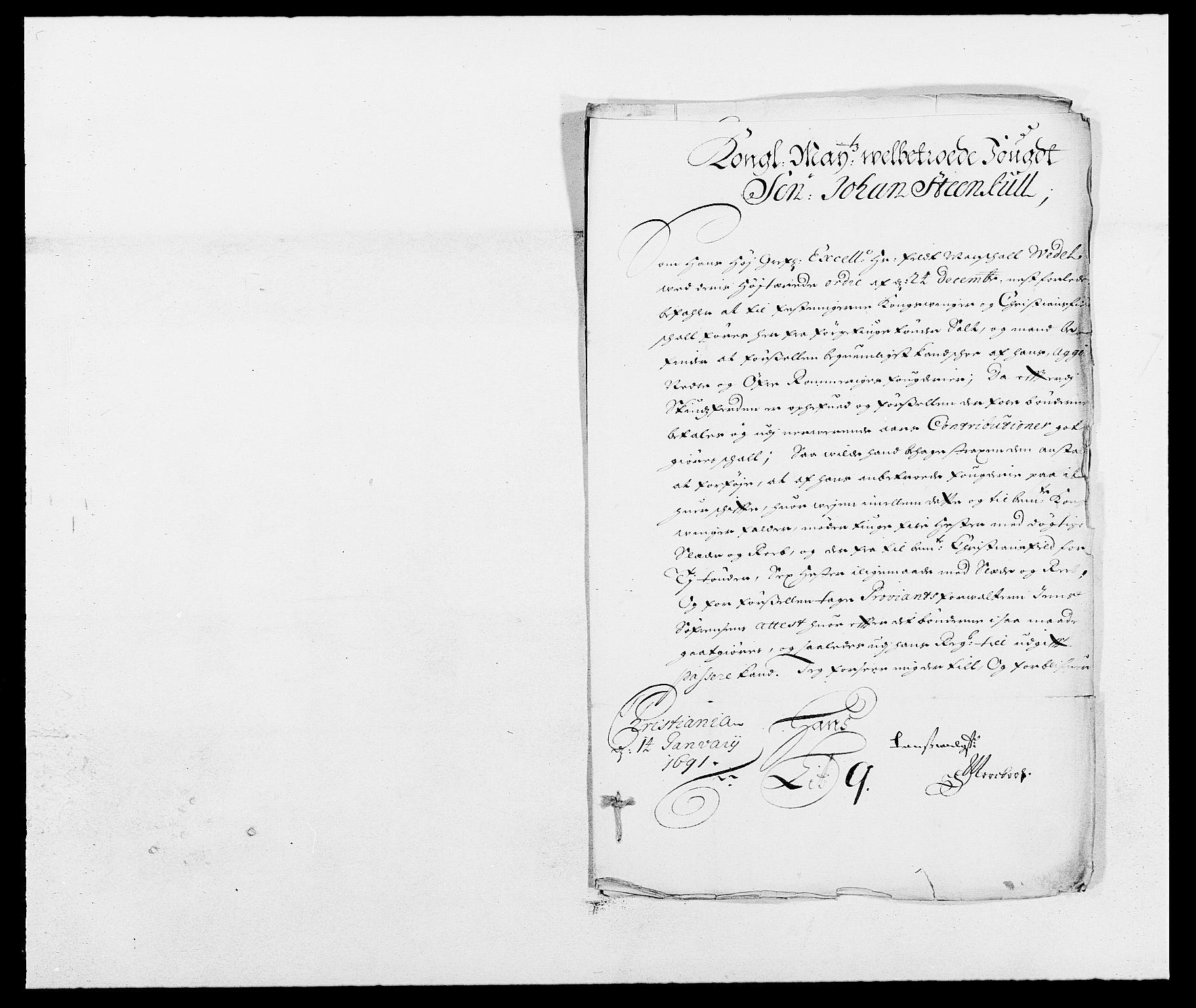 RA, Rentekammeret inntil 1814, Reviderte regnskaper, Fogderegnskap, R13/L0829: Fogderegnskap Solør, Odal og Østerdal, 1691, s. 127